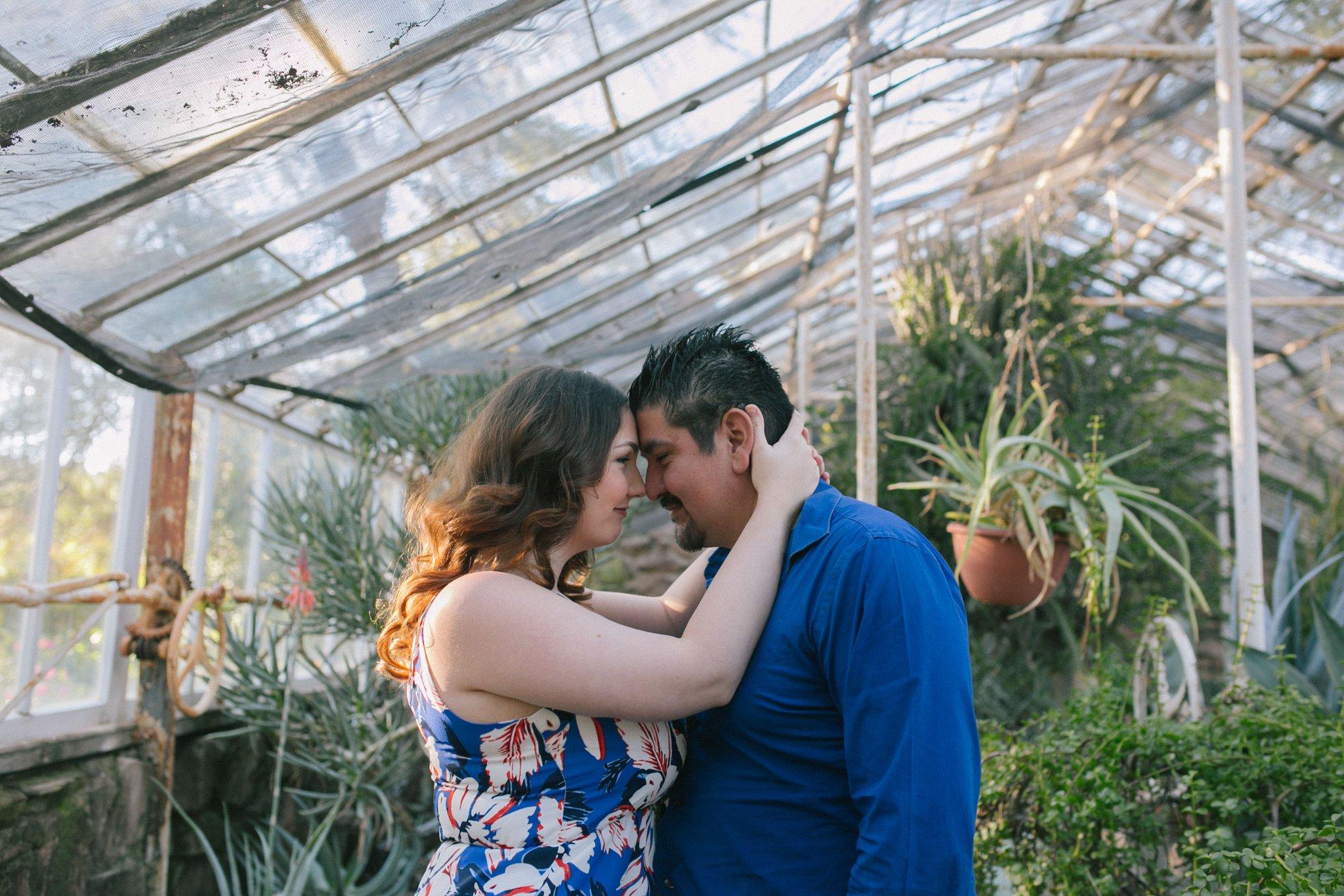Arizona greenhouse engagement photos