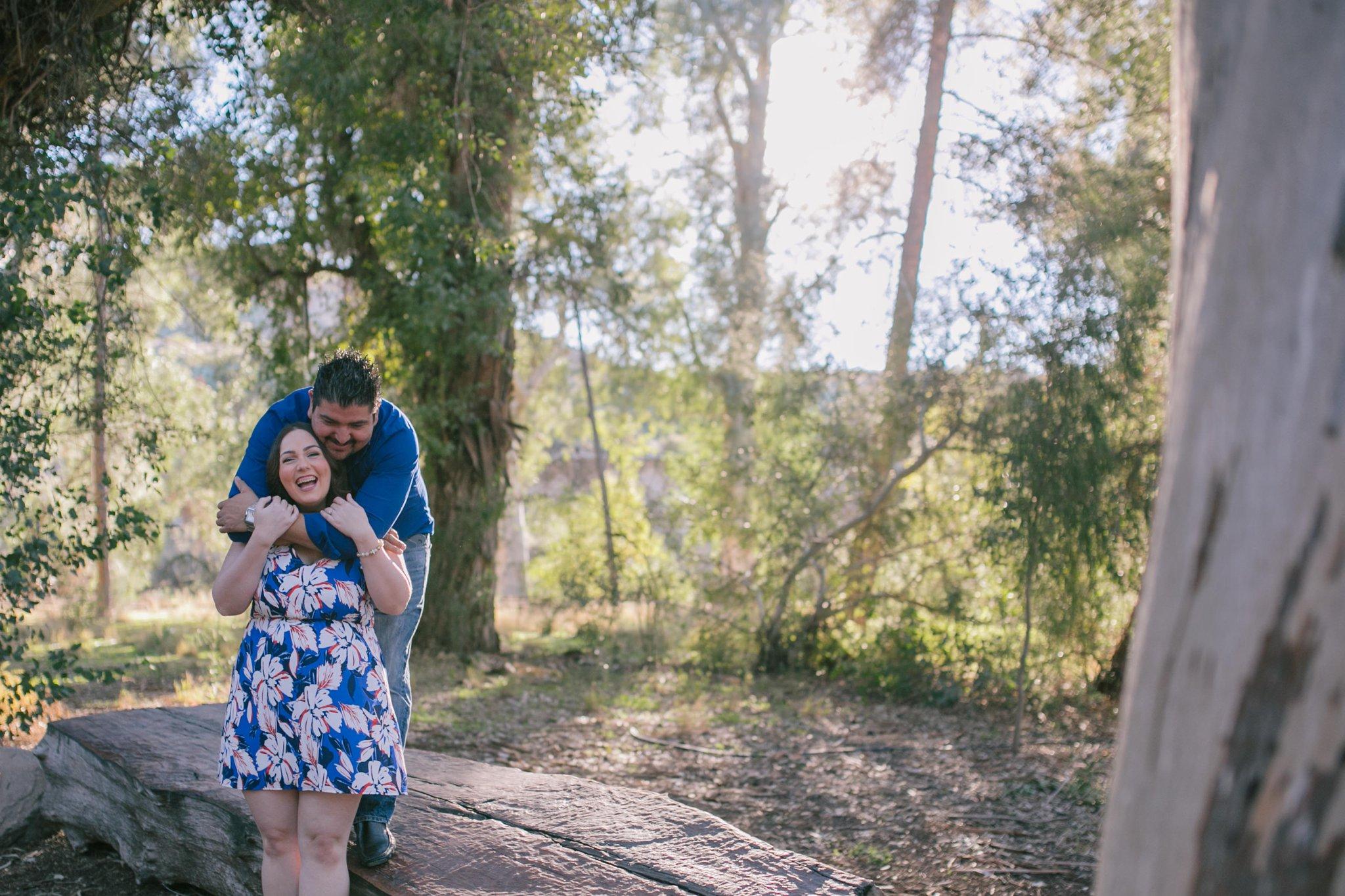 Boyce Thompson Arboretum engagement photo session