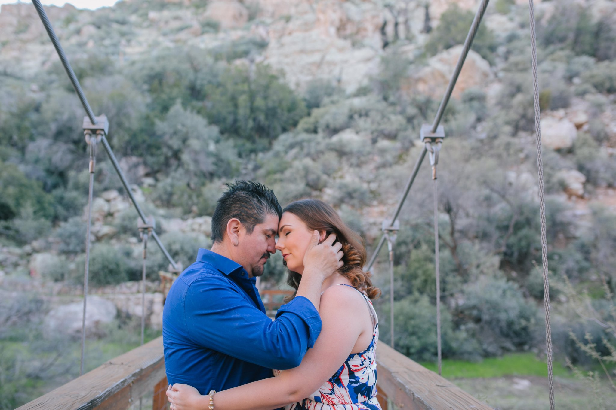 Phoenix engagement photos at Boyce Thompson Arboretum