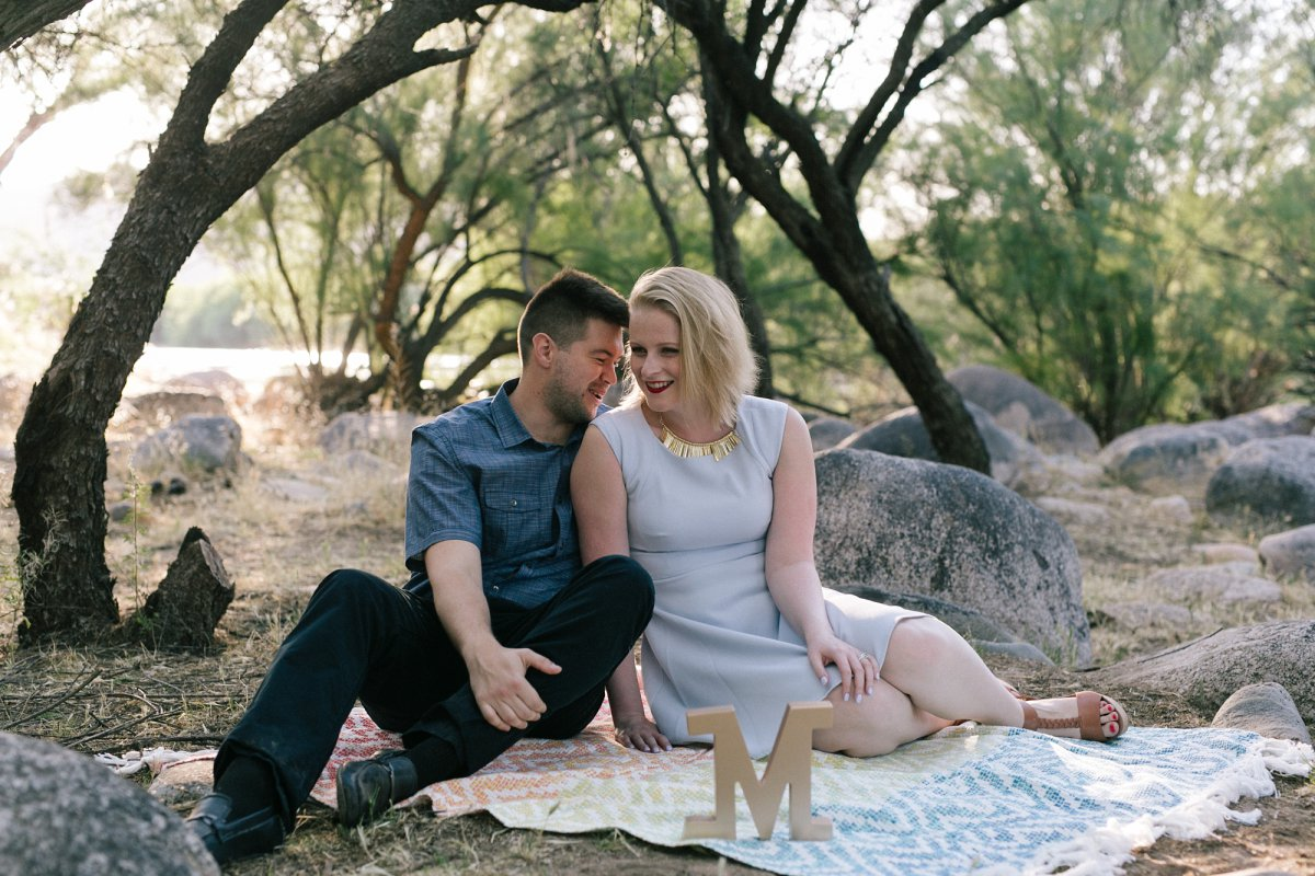 Arizona salt river engagement photos