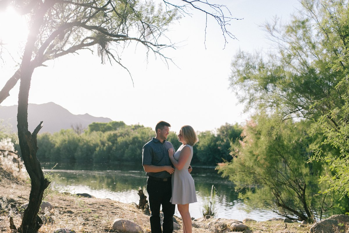 scenic nature engagement session at Salt River Mesa, AZ