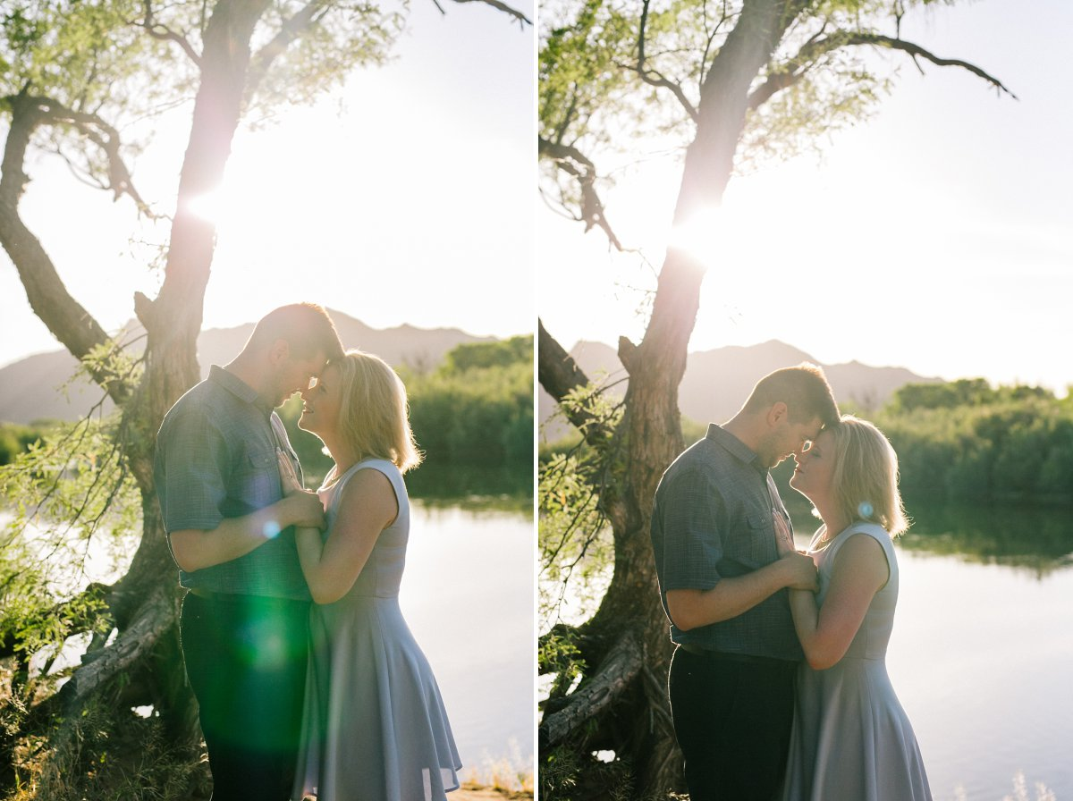 Salt River natural engagement photos Arizona