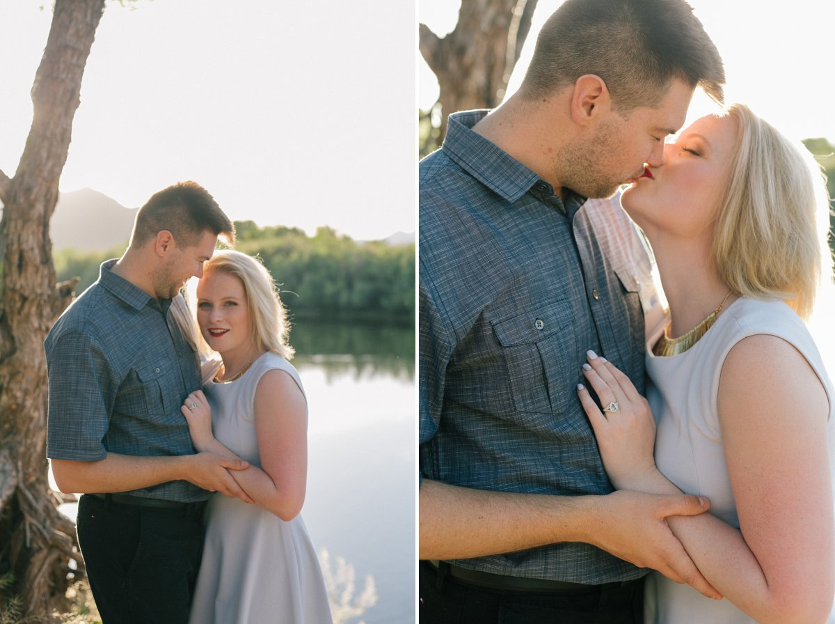 Salt River engagement photos in Mesa, AZ