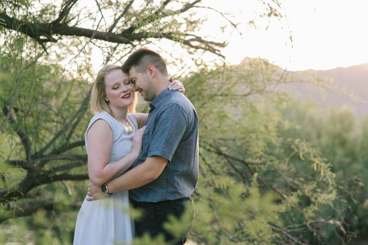 natural genuine candid engagement session at Salt River, Arizona