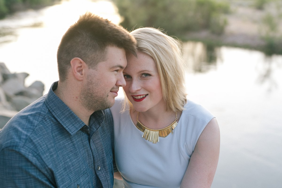 Salt River engagement session in Mesa