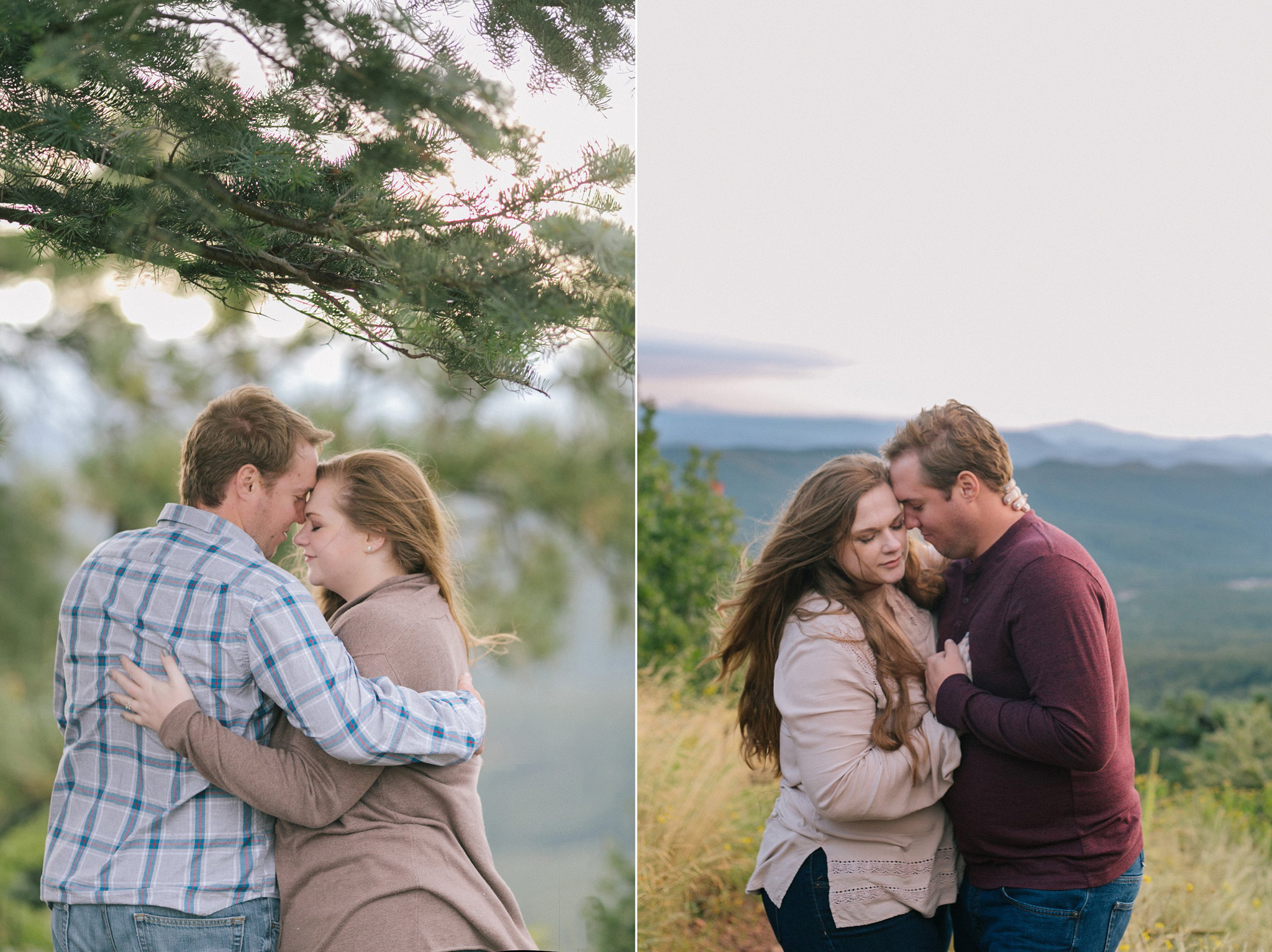 northern arizona engagement session mountain overlook