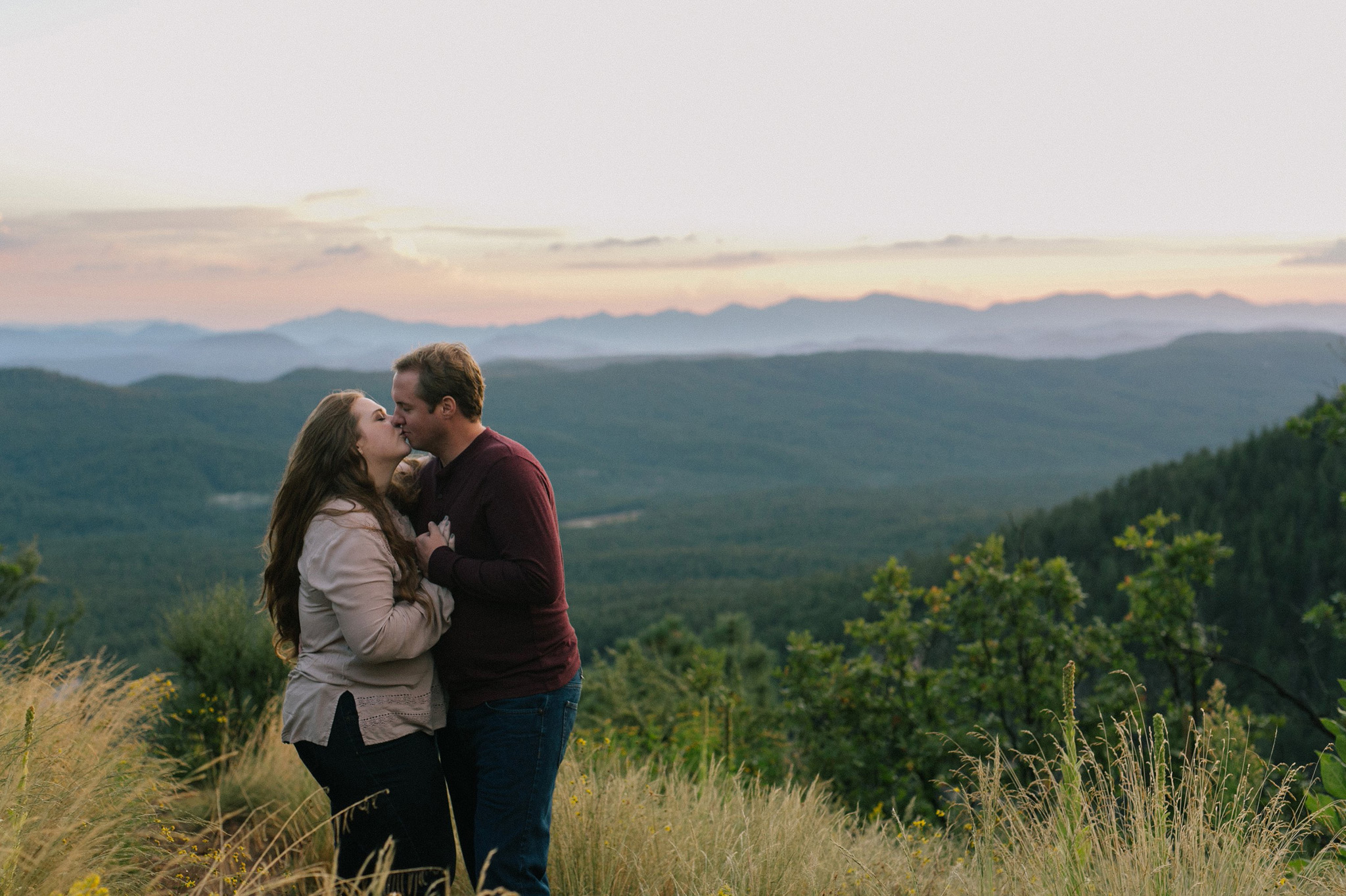 outdoor mountain engagement session in Payson
