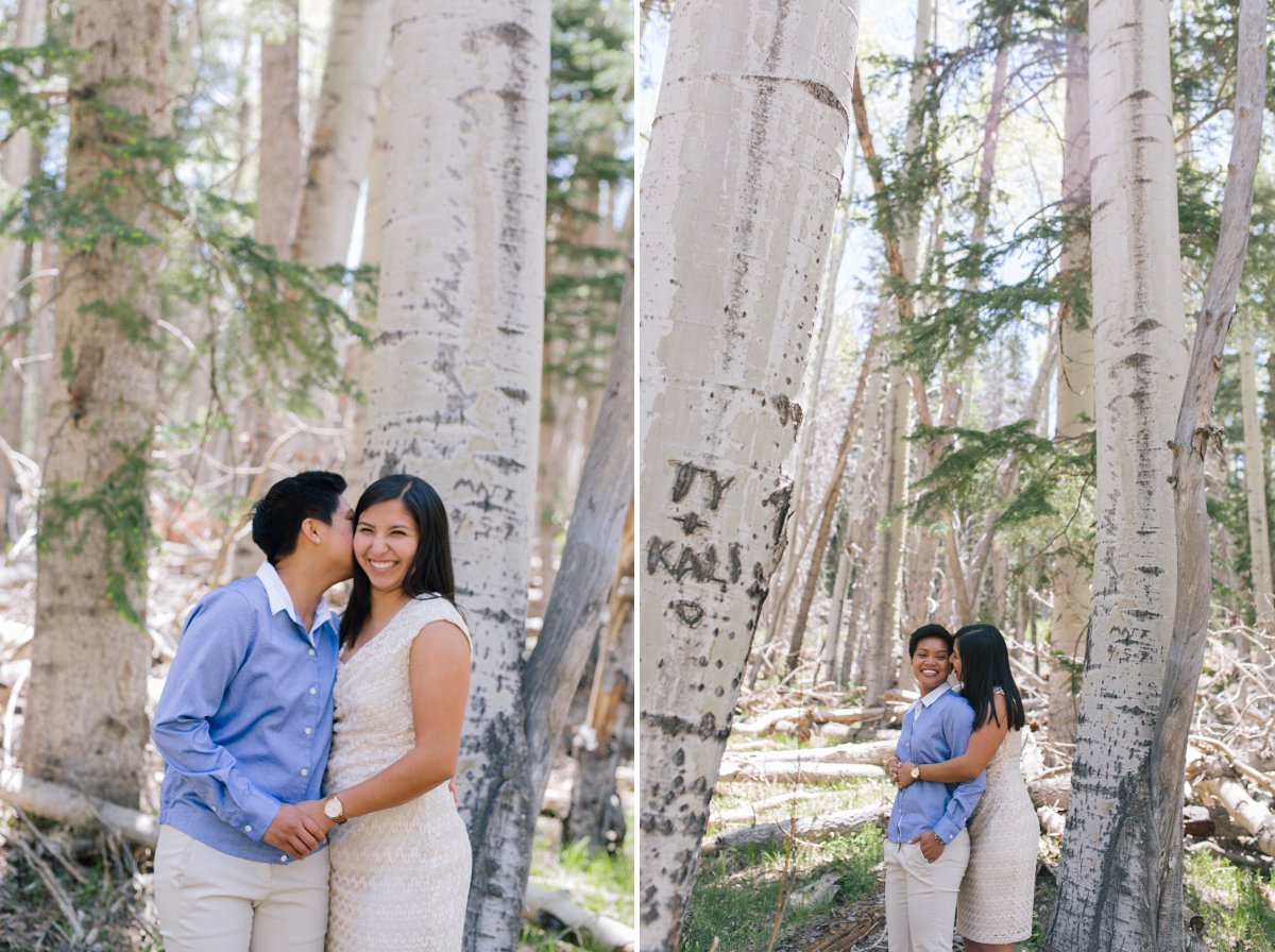 authentic gay engagement photos in Flagstaff