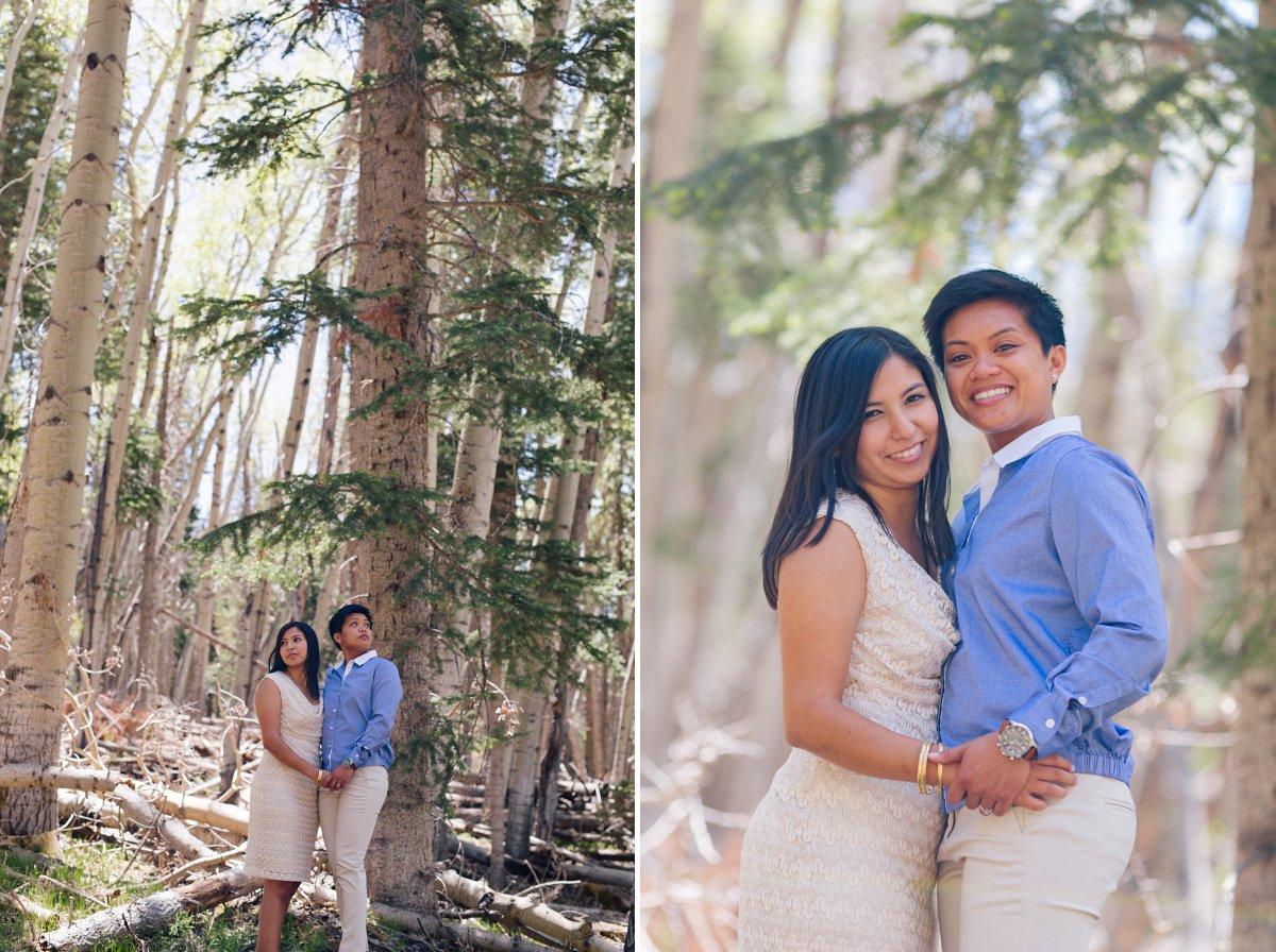 gay engagement photos Mt Humphrey Flagstaff