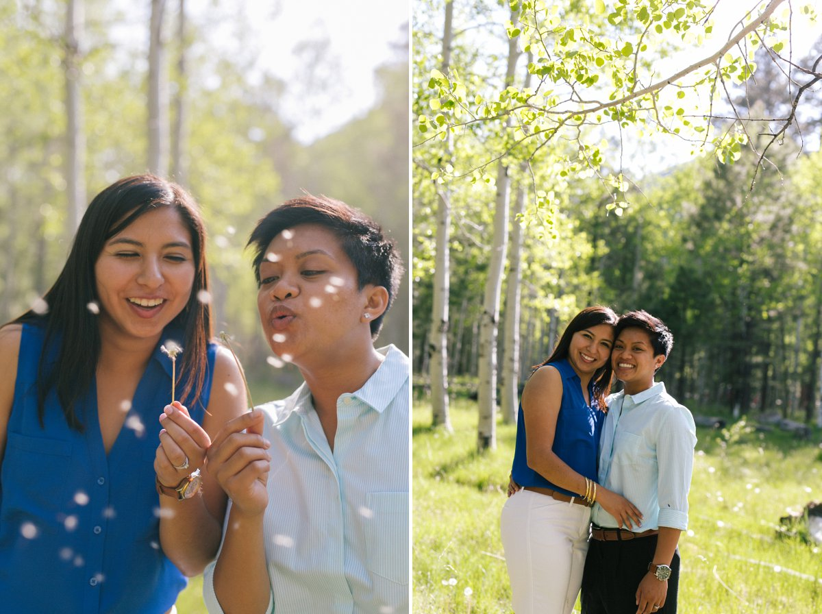 sweet Lockett Meadow LGBT engagement session