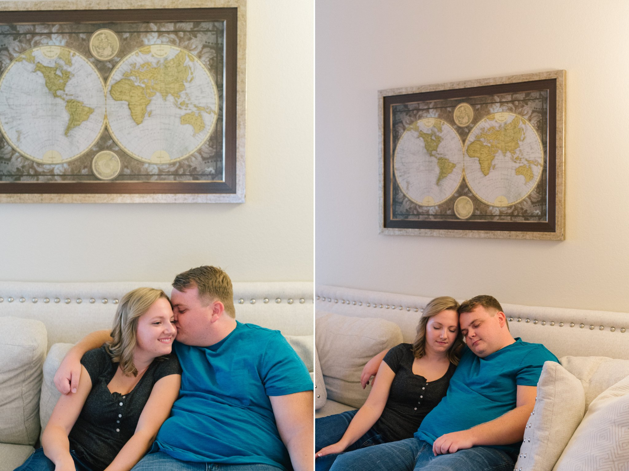 in home documentary engagement photos in Tempe Arizona