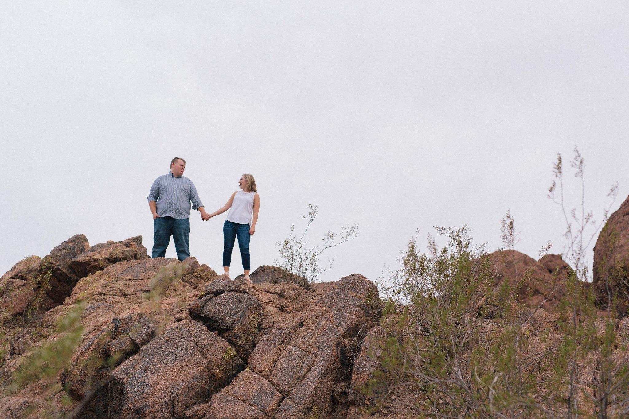 Tempe engagement photos in the desert