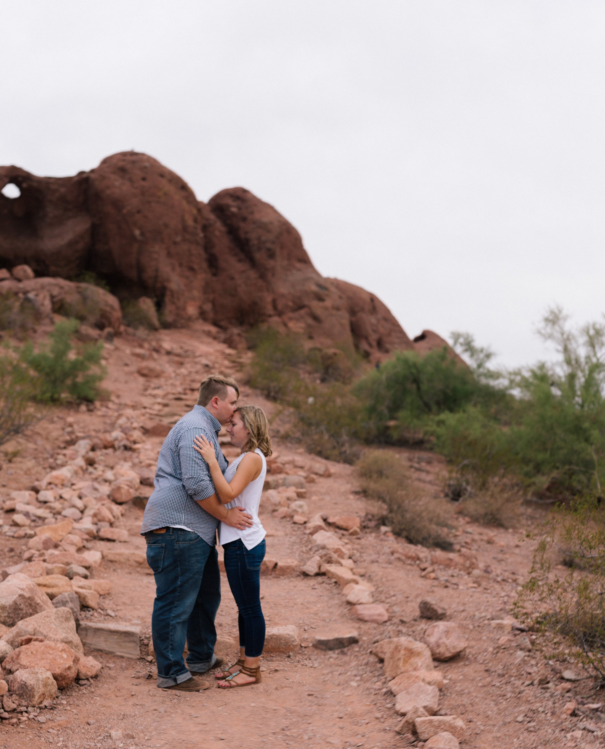 red rocks desert Papago Park engagement photos in Tempe