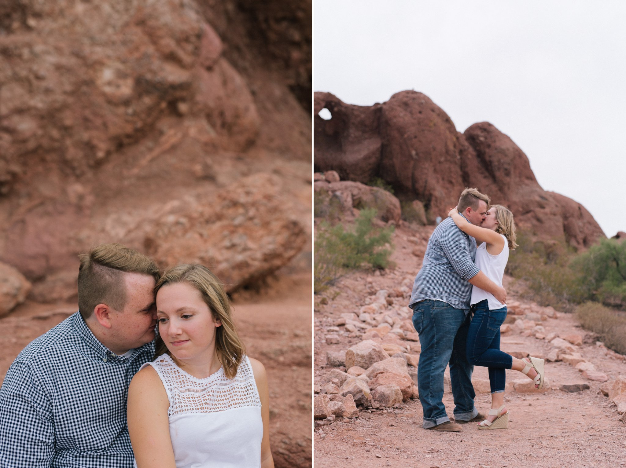 red rocks engagement photos in Tempe Phoenix Arizona