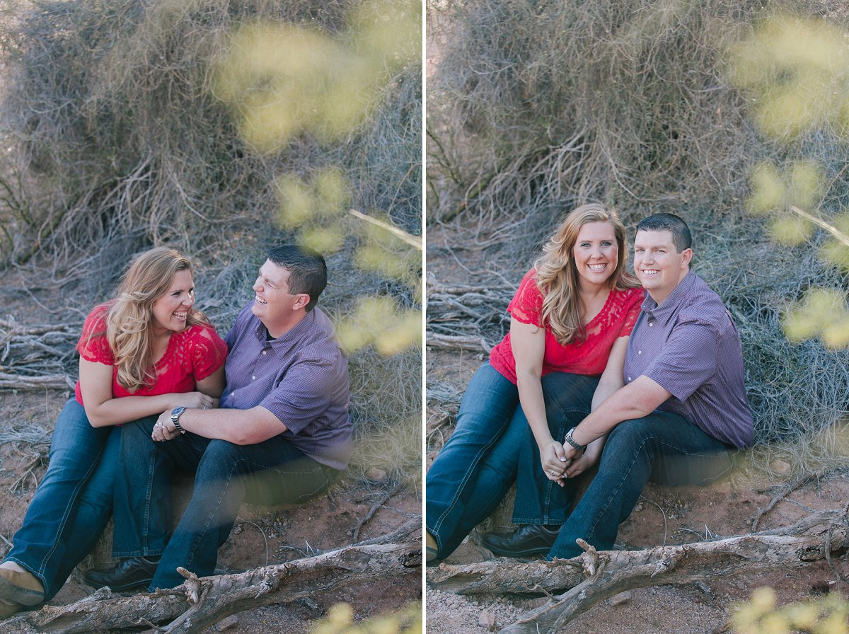 engagement session in Papago Park desert