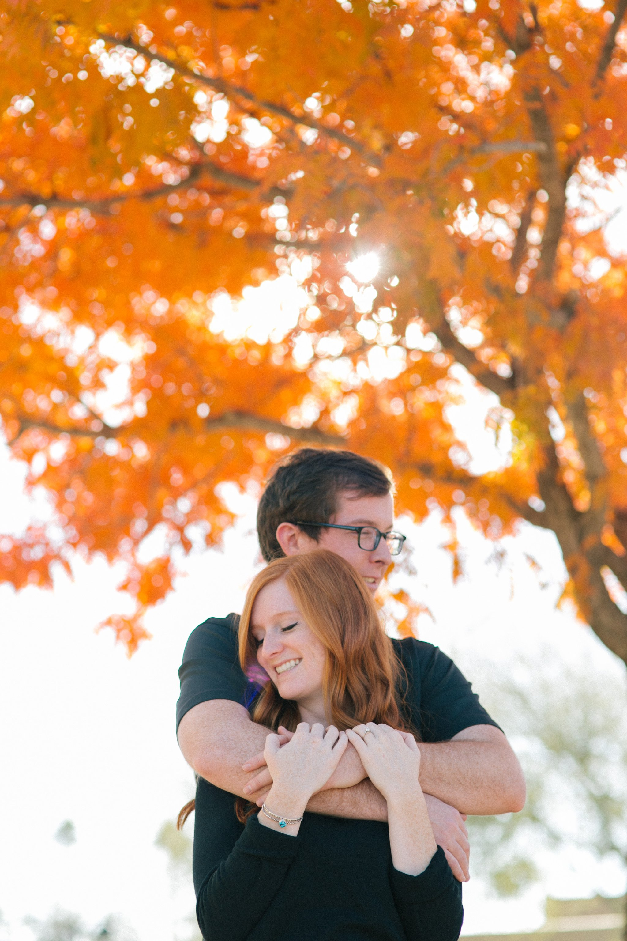 downtown Mesa fall engagement photos