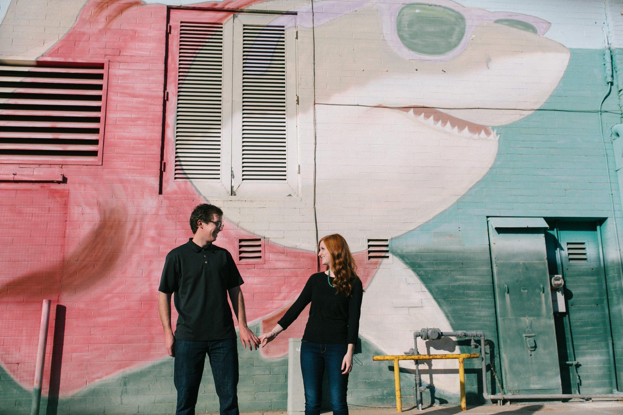 downtown Mesa urban mural engagement photographer