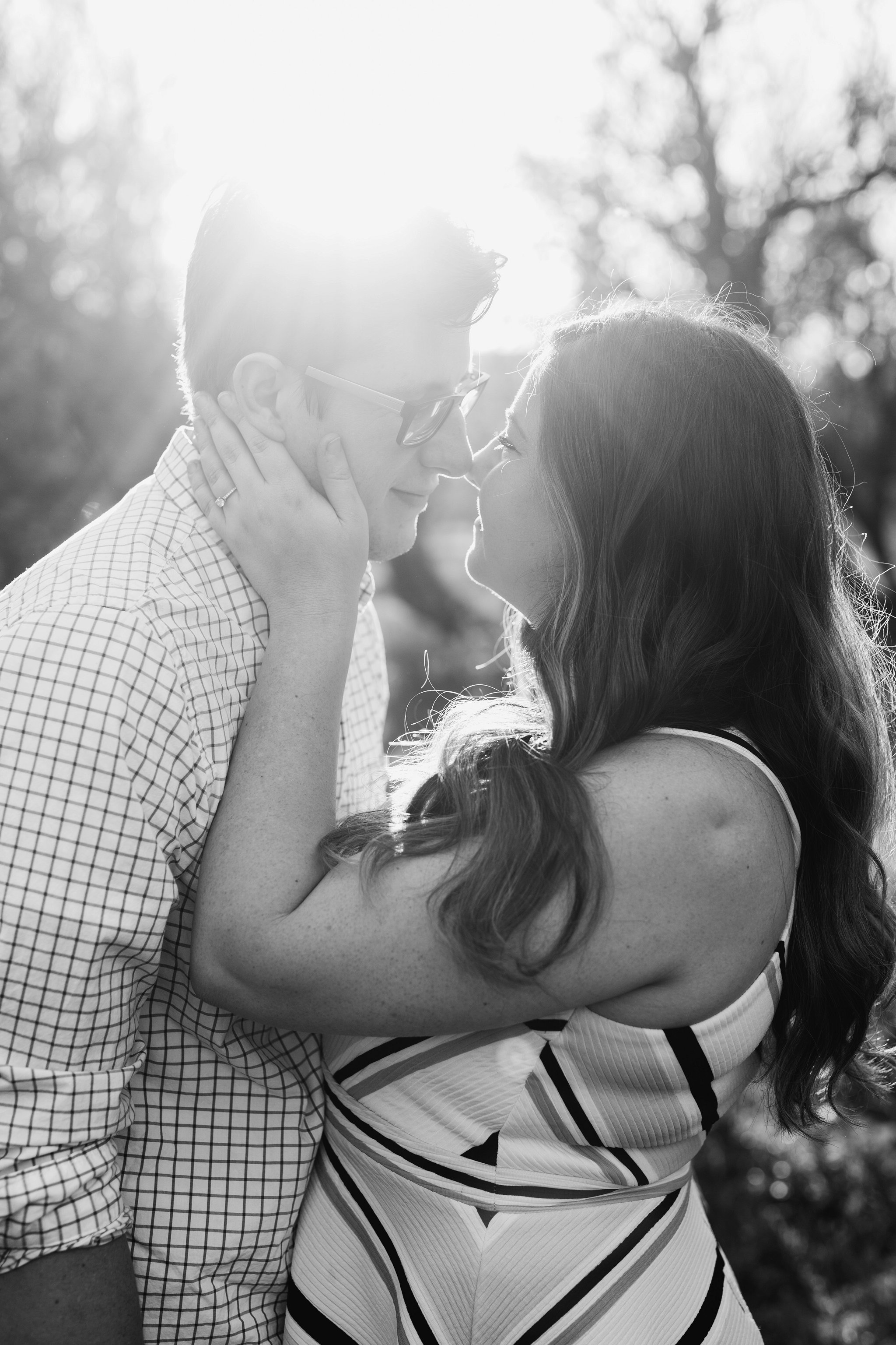 romantic natural emotional engagement photos in Phoenix
