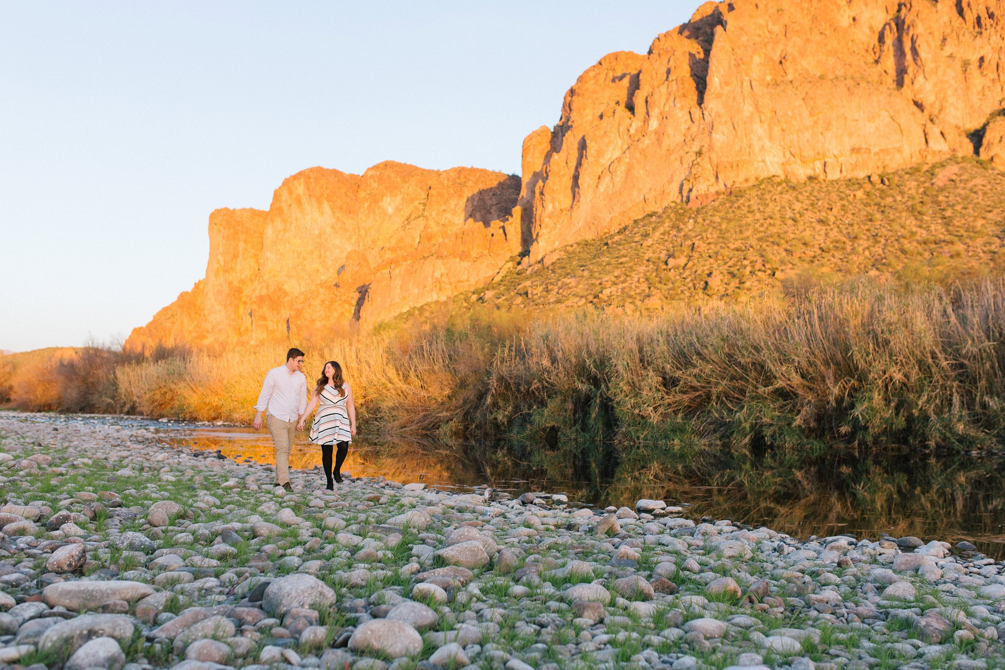 scenic mountains at sunset engagement session in Arizona
