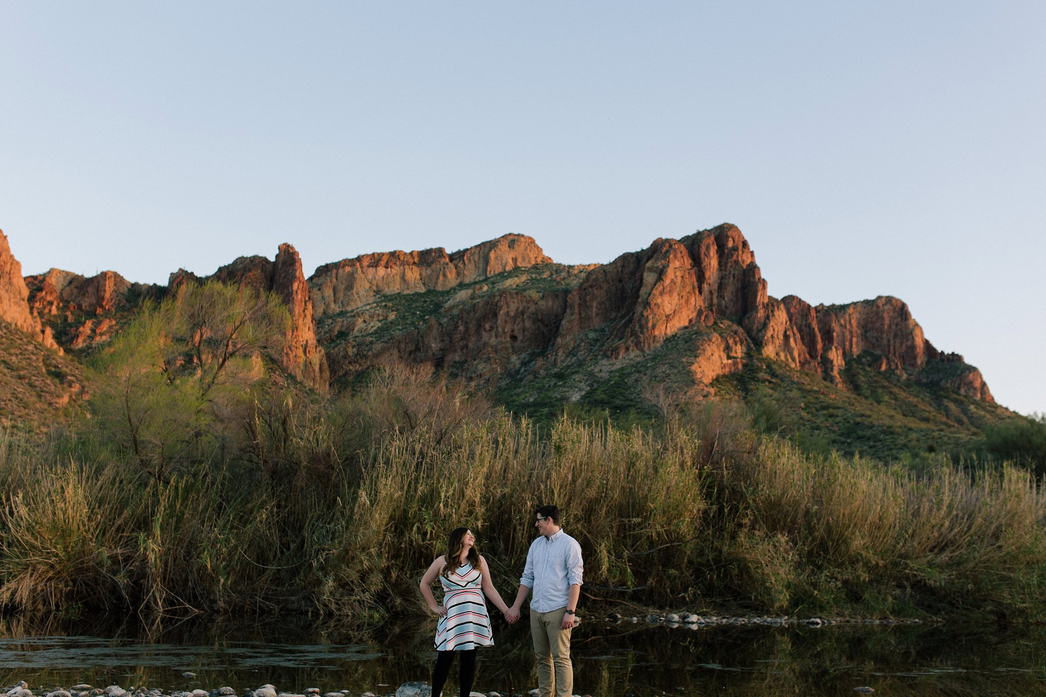 scenic outdoor nature engagement session in Mesa