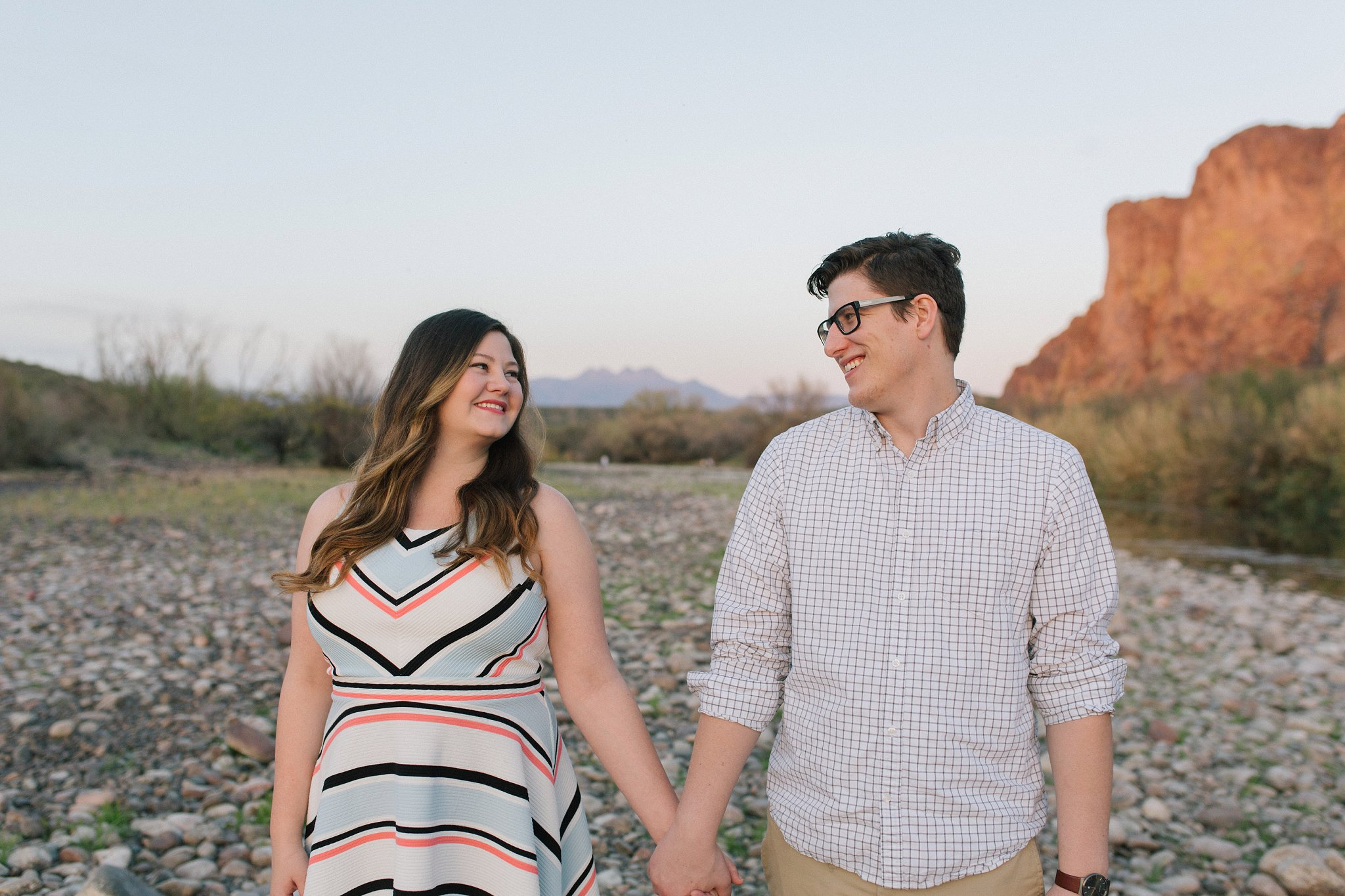 mountain engagement session in Mesa