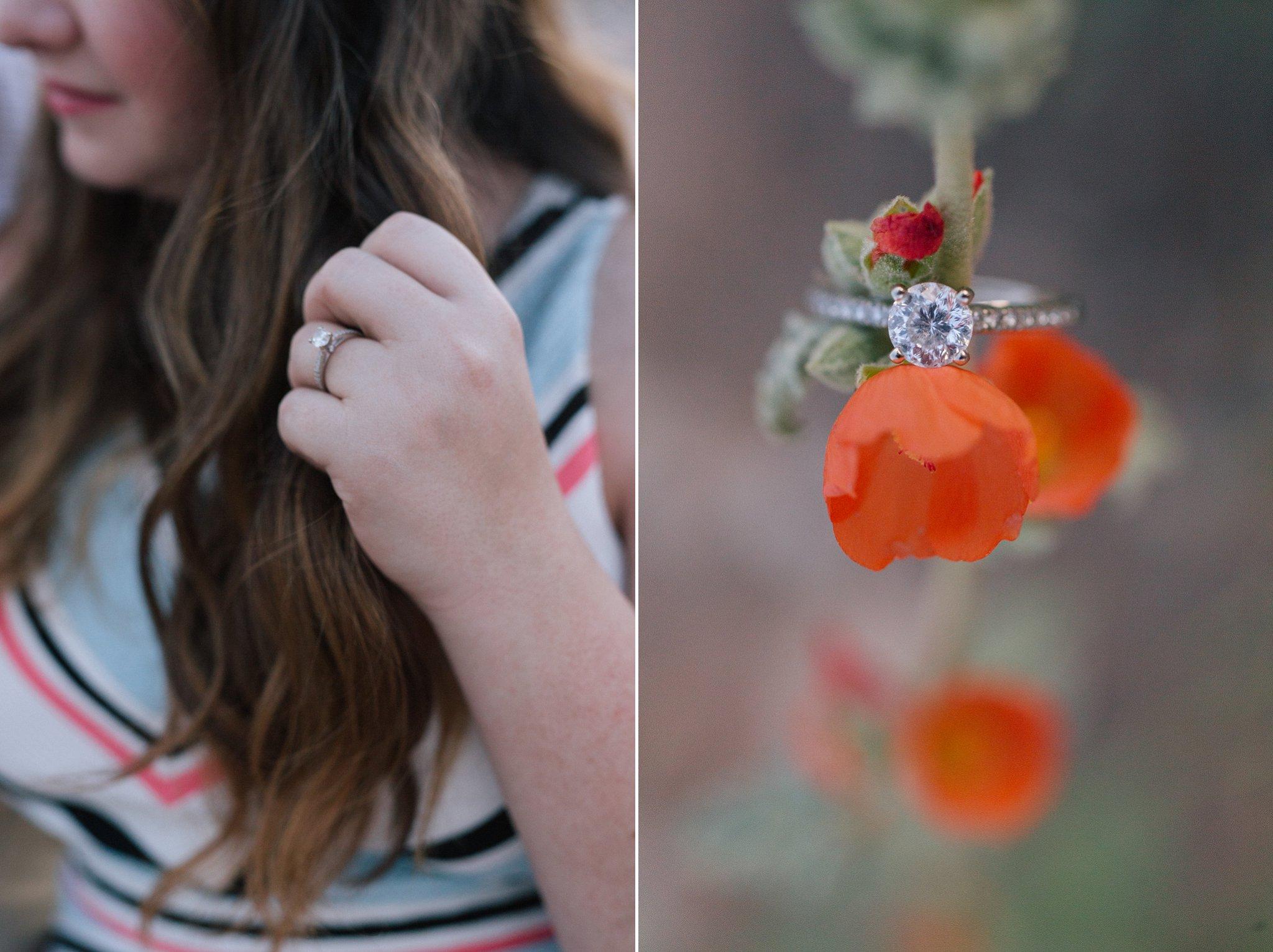engagement ring Arizona engagement photographer