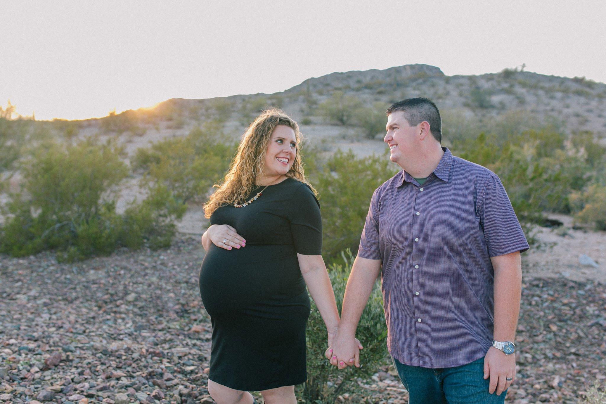 desert Goodyear maternity photos at Estrella Mountain