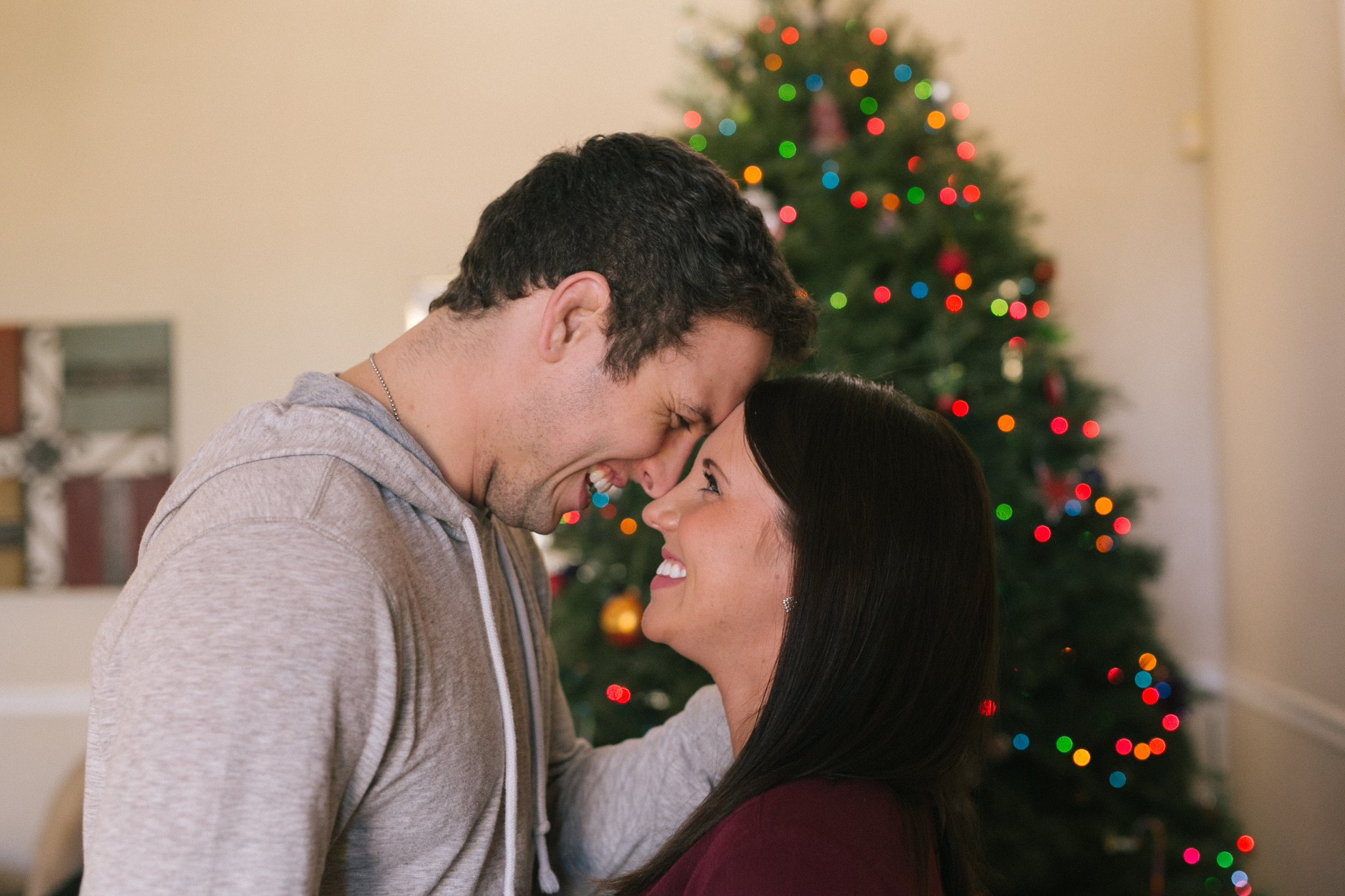 in home maternity session at Christmas Chandler AZ