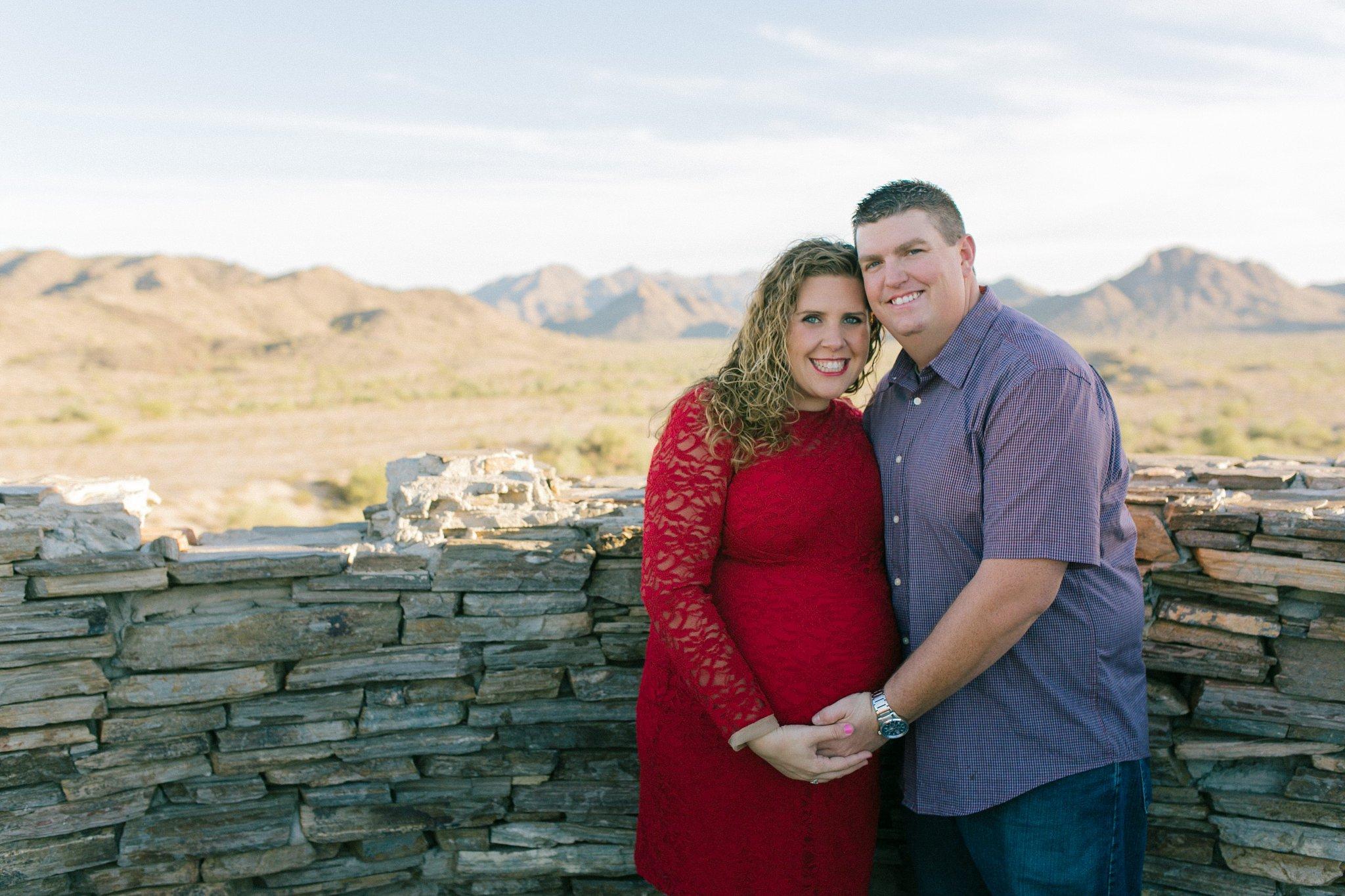 Estrella Mountain maternity photos