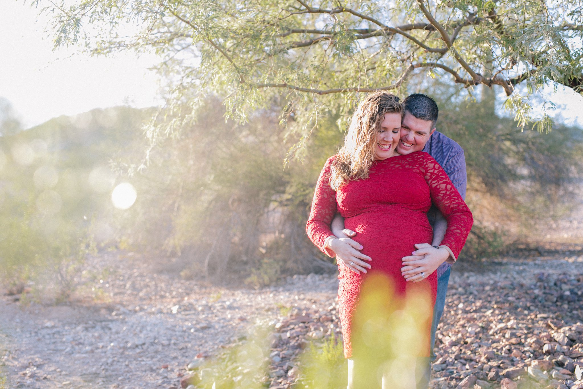 goodyear desert Estrella Mountain maternity photography