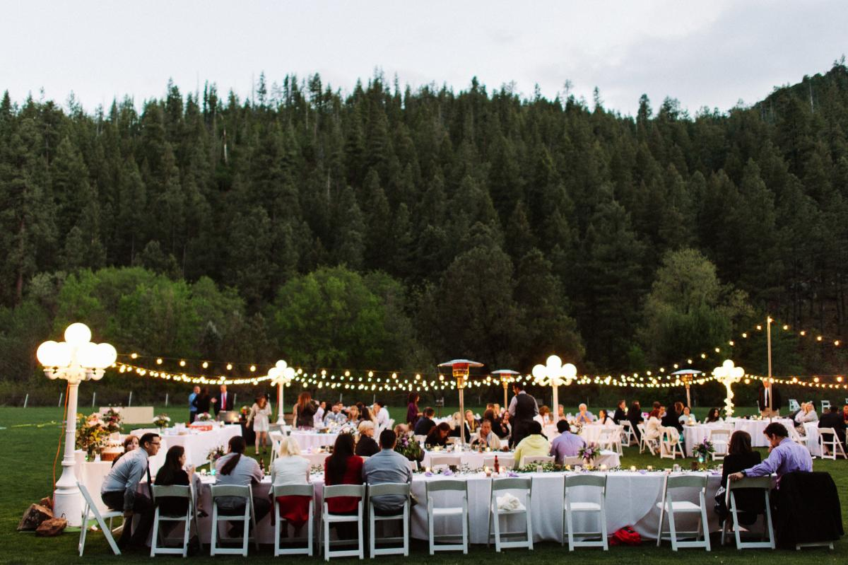 Tonto Creek Camp Summer Wedding Reception In Payson Az