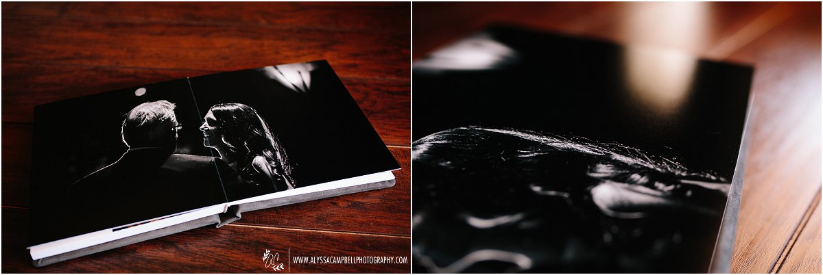 wedding flushmount album with luster pages