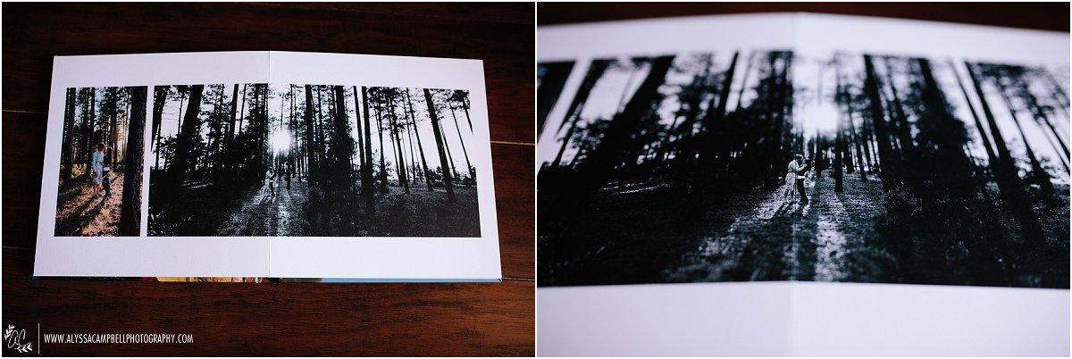 photo of layflat engagement album