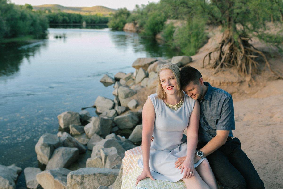 Salt River engagement session in Mesa, AZ