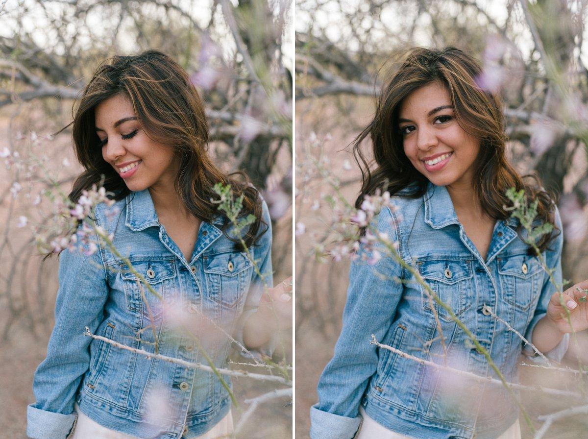 outdoor desert high school senior portraits in Arizona