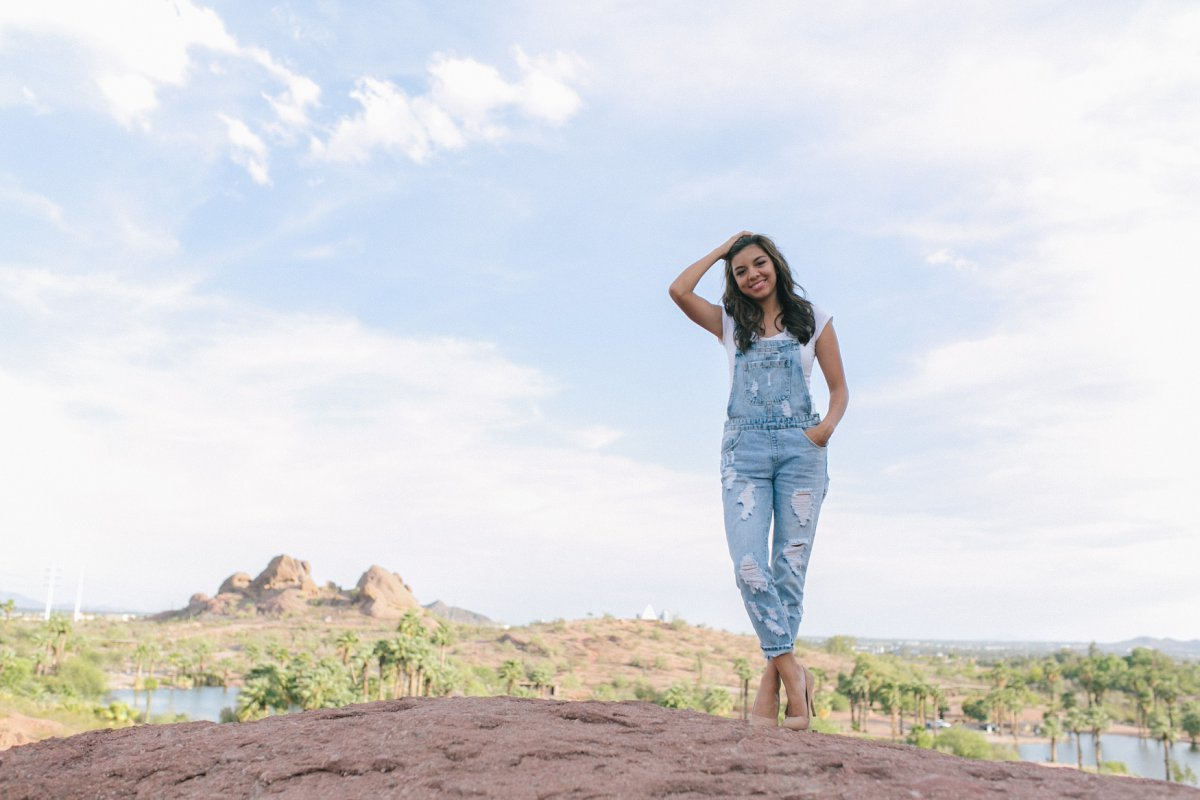 Papago Park desert high school senior photos