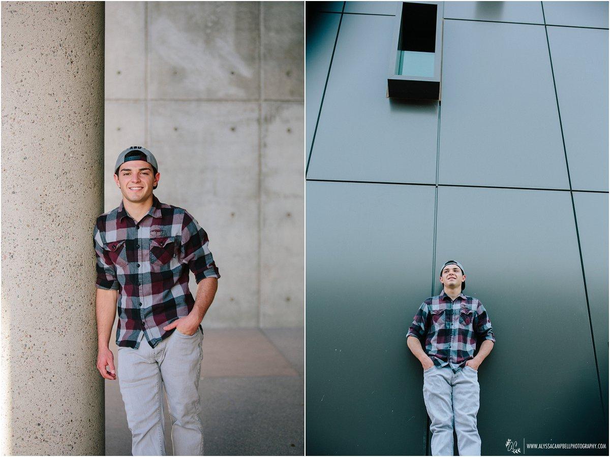 cool laidback photos of high school senior guy in casual clothes by Mesa AZ senior photographer Alyssa Campbell