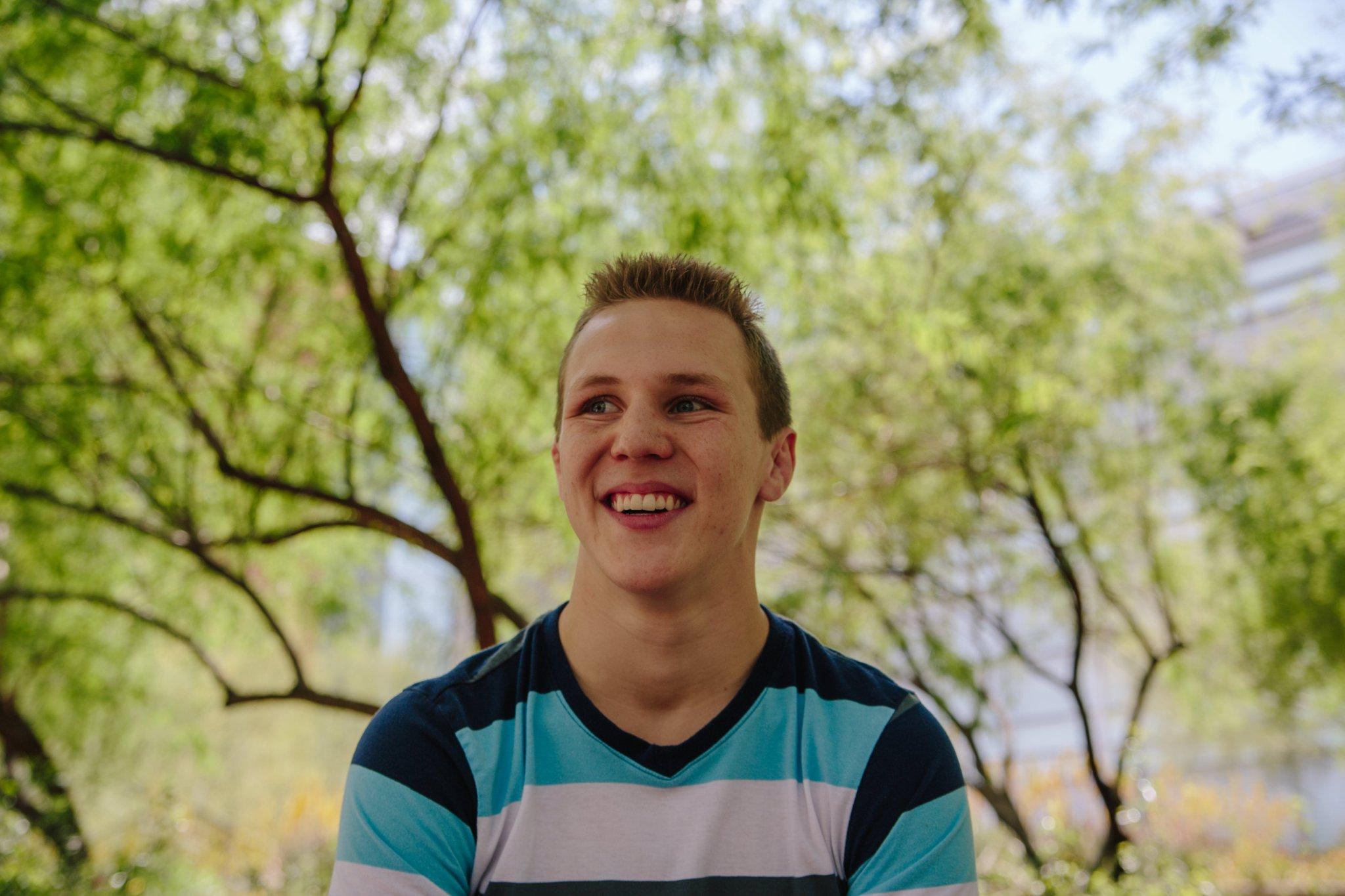 desert vista high school senior boy goofy face