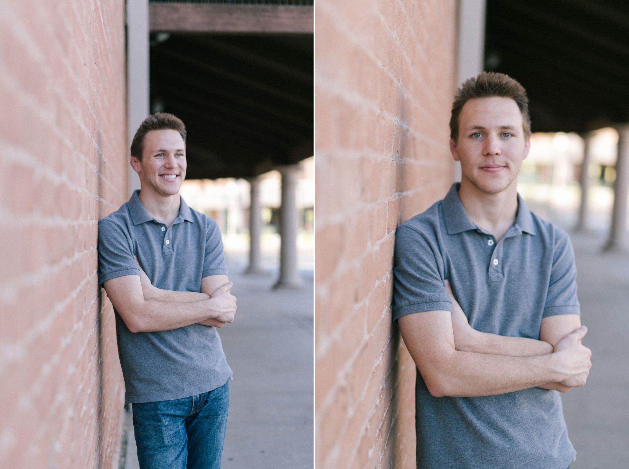 Arizona college senior portraits guy