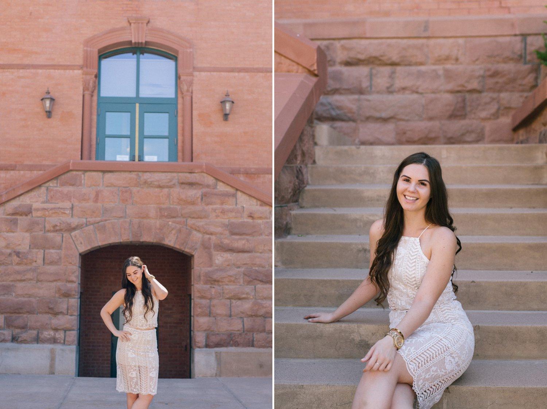 Arizona college graduate portrait session