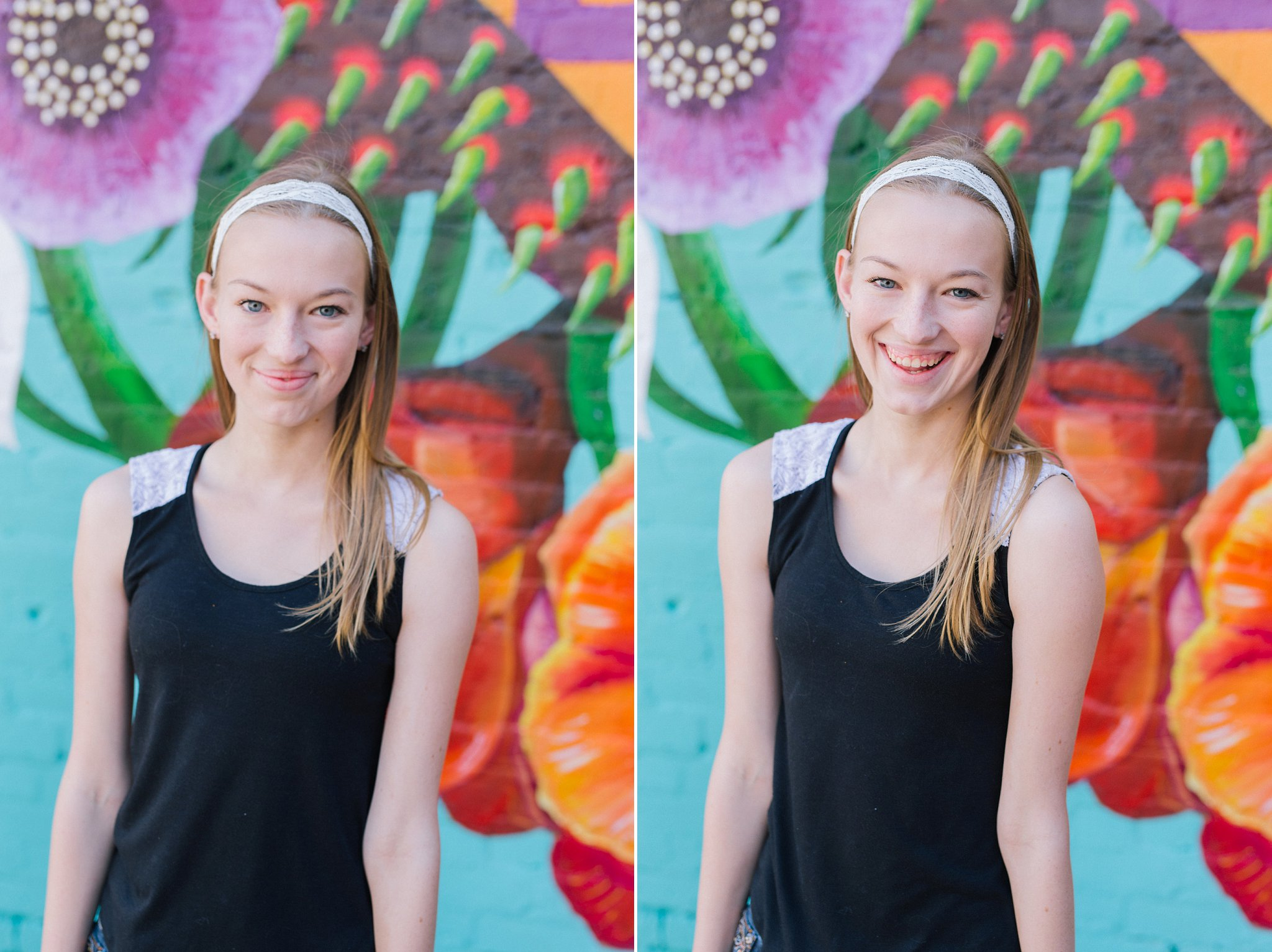 colorful downtown Mesa high school senior portraits by Alyssa Campbell Photography