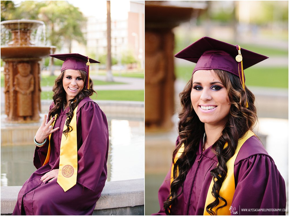 Stylish and Fun Tempe College Grad Portraits at Arizona State ...