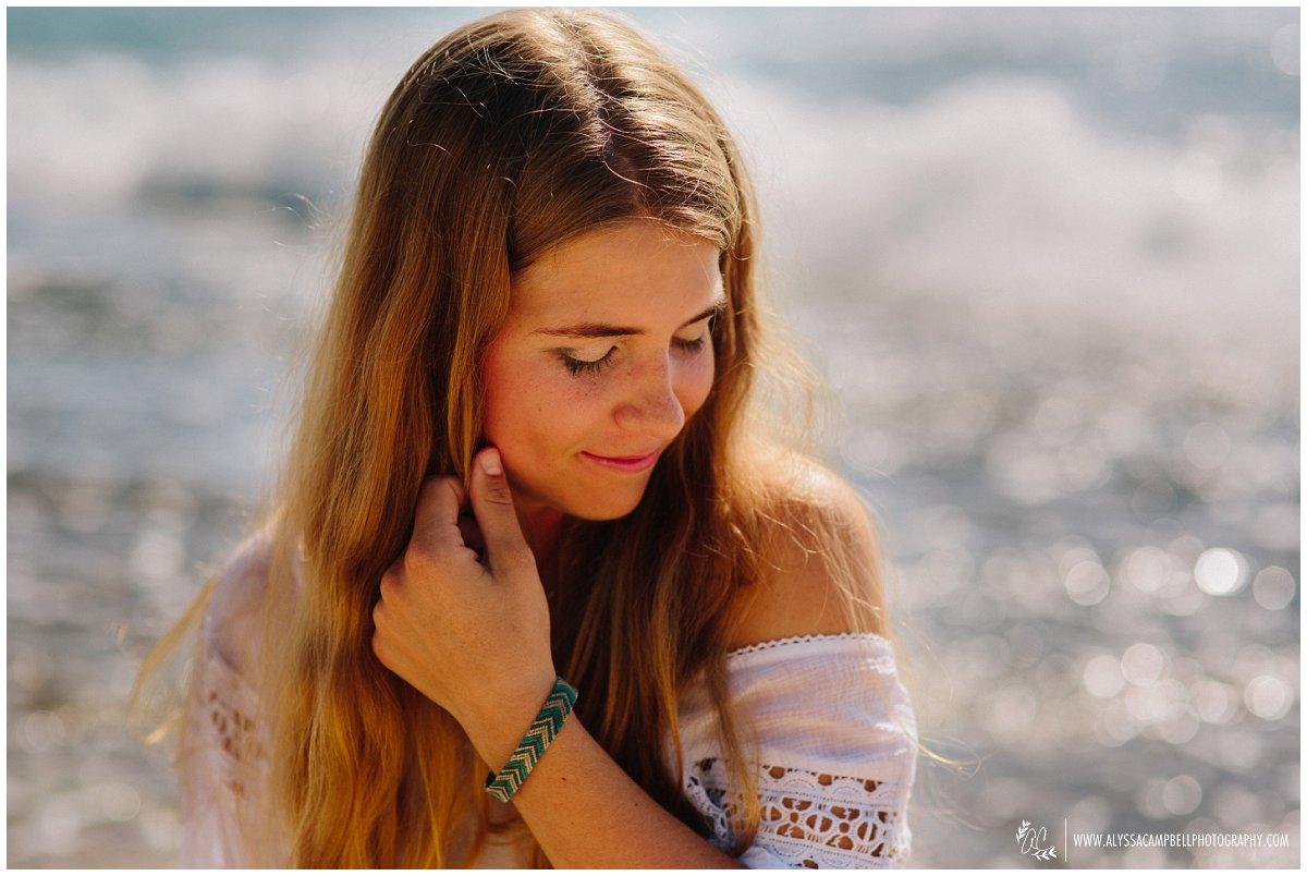senior beach portraits southern Oahu