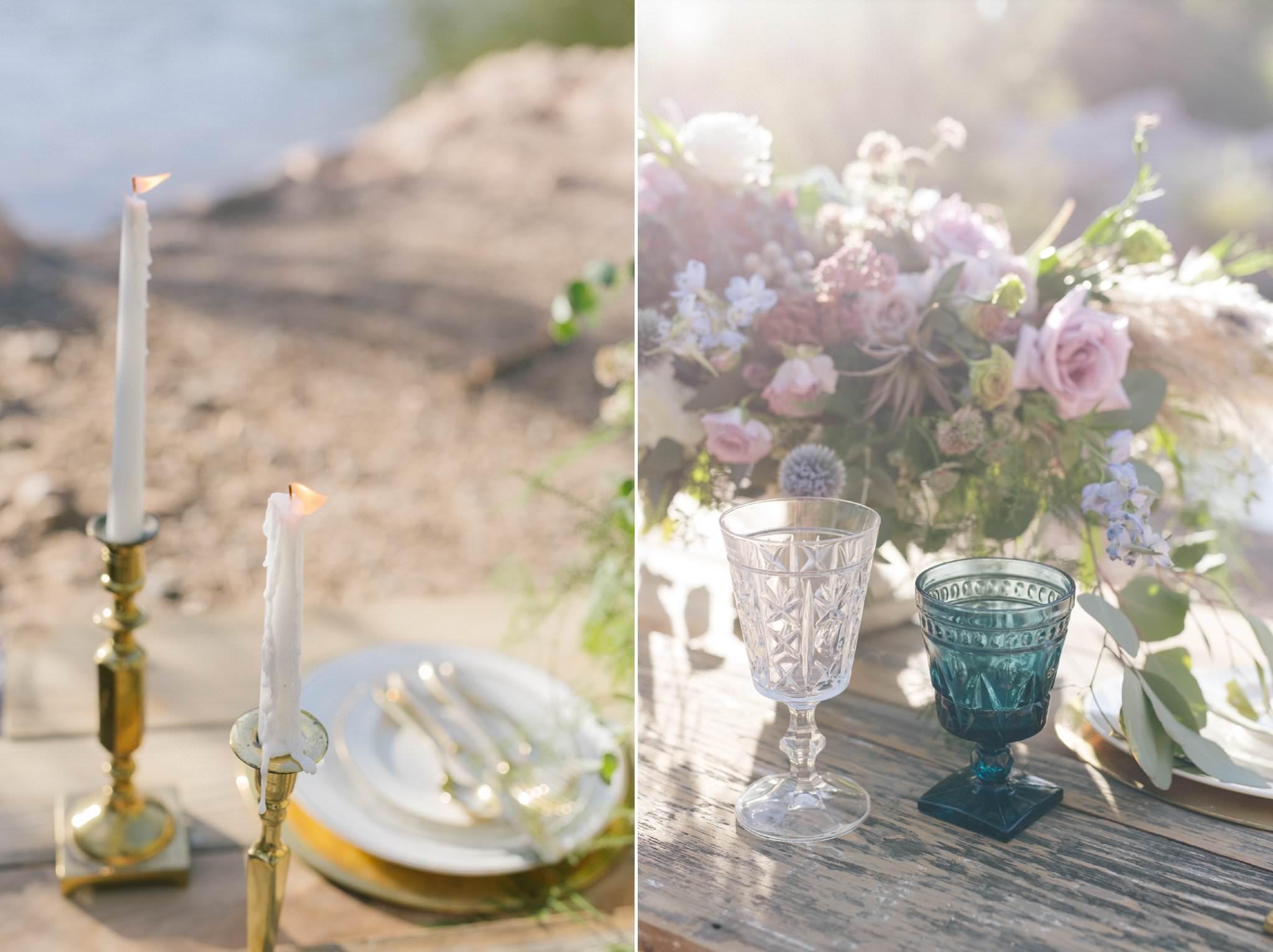 romantic ethereal wedding at Salt River