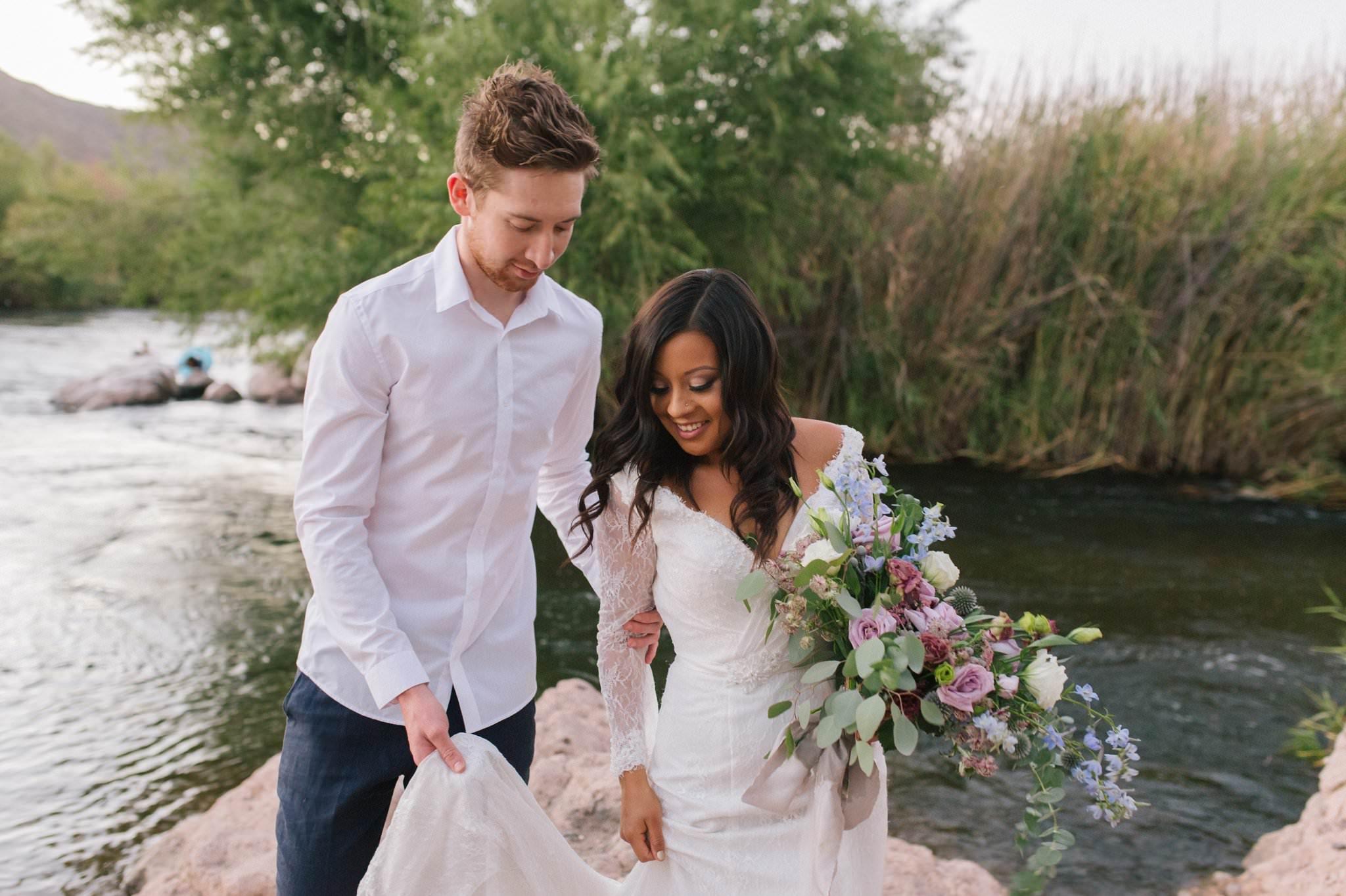 nature inspired Salt River elopement wedding