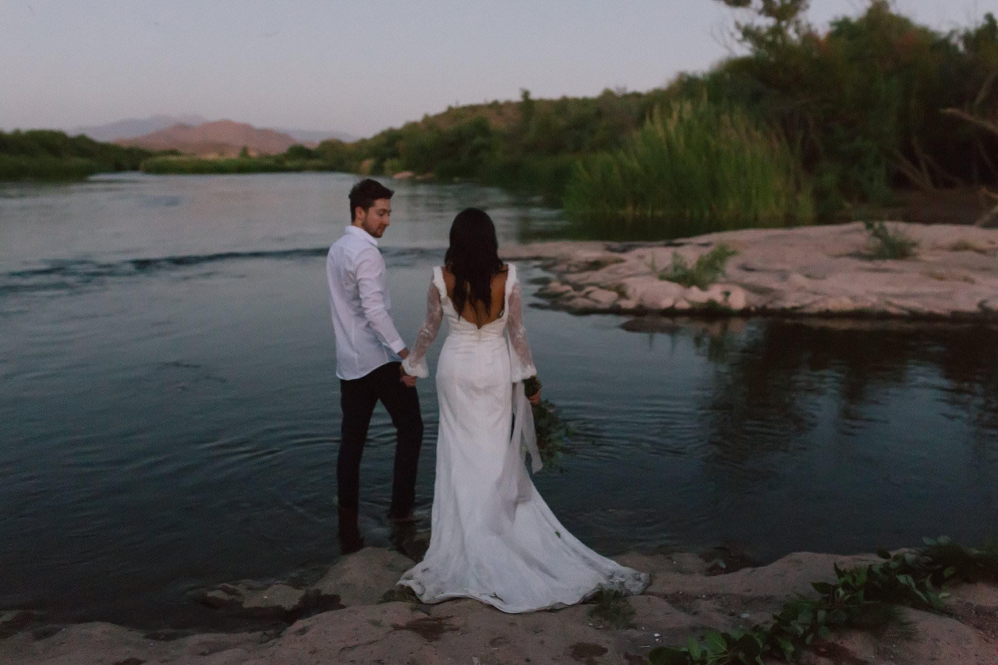 Salt River wedding elopement