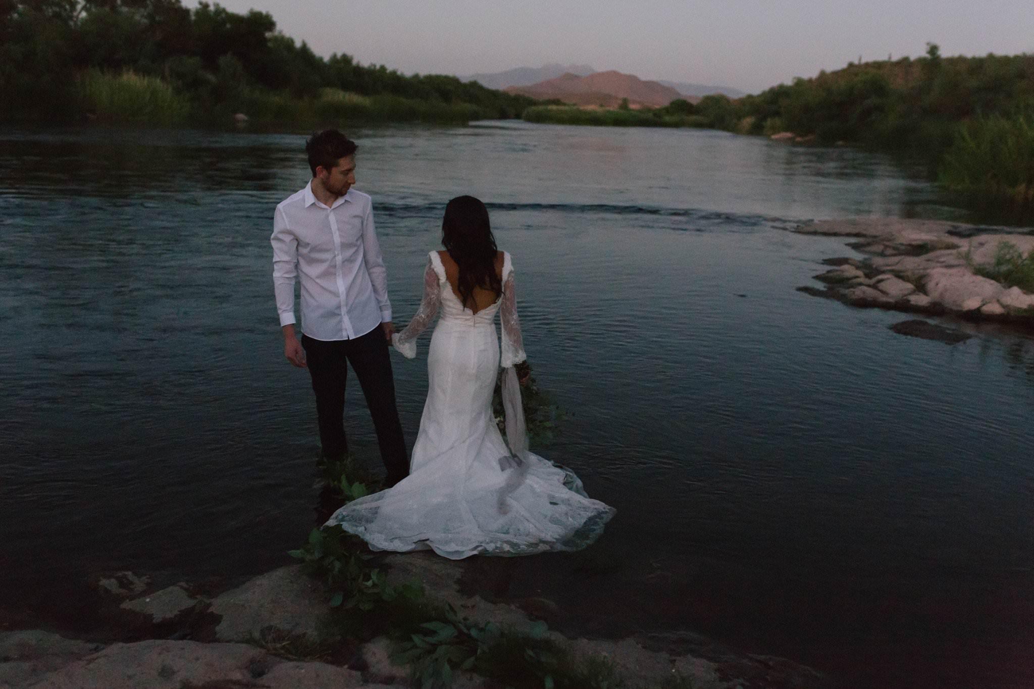 Salt River trash the wedding dress photos