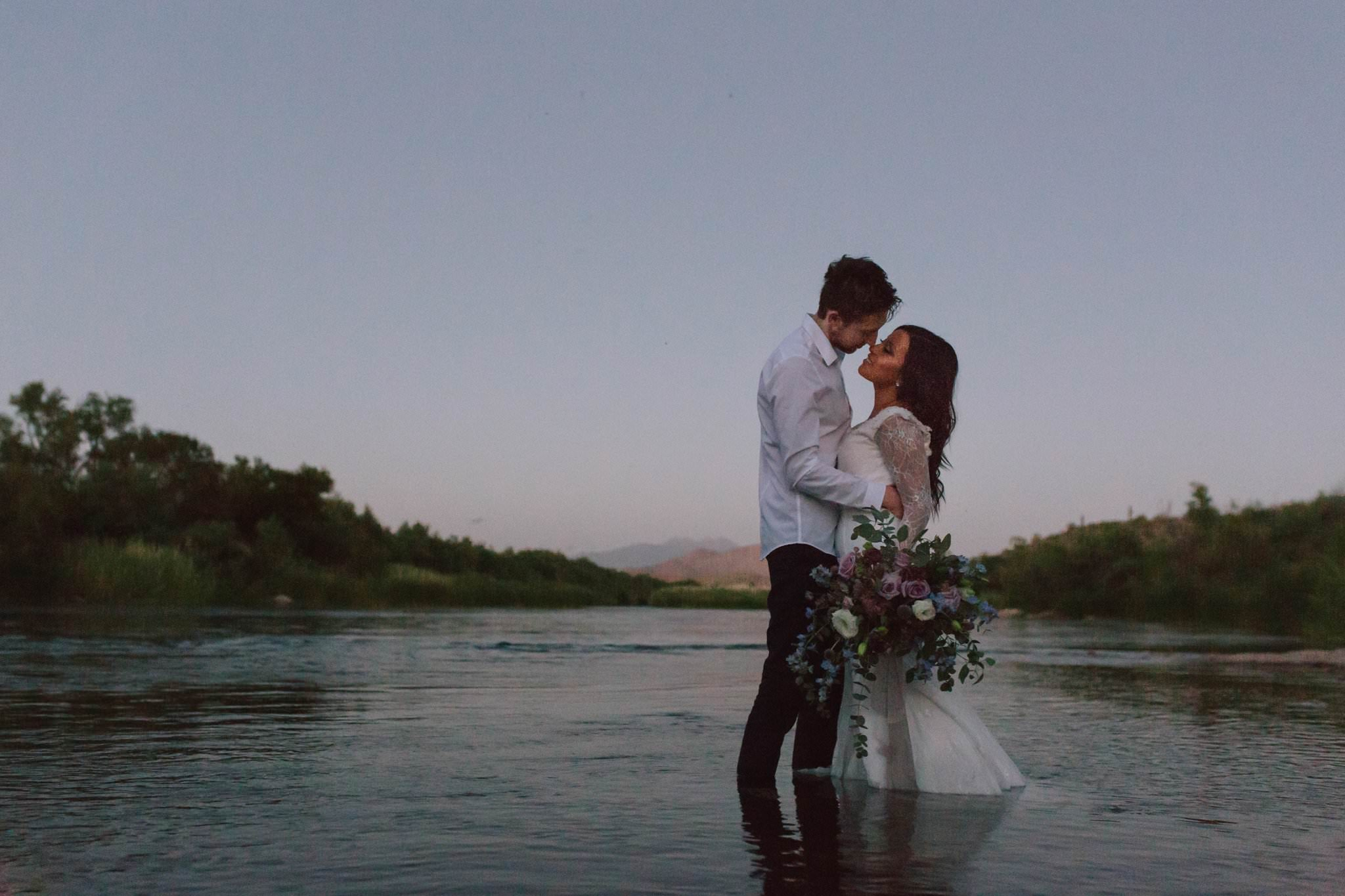 bride & groom in Salt River Mesa AZ