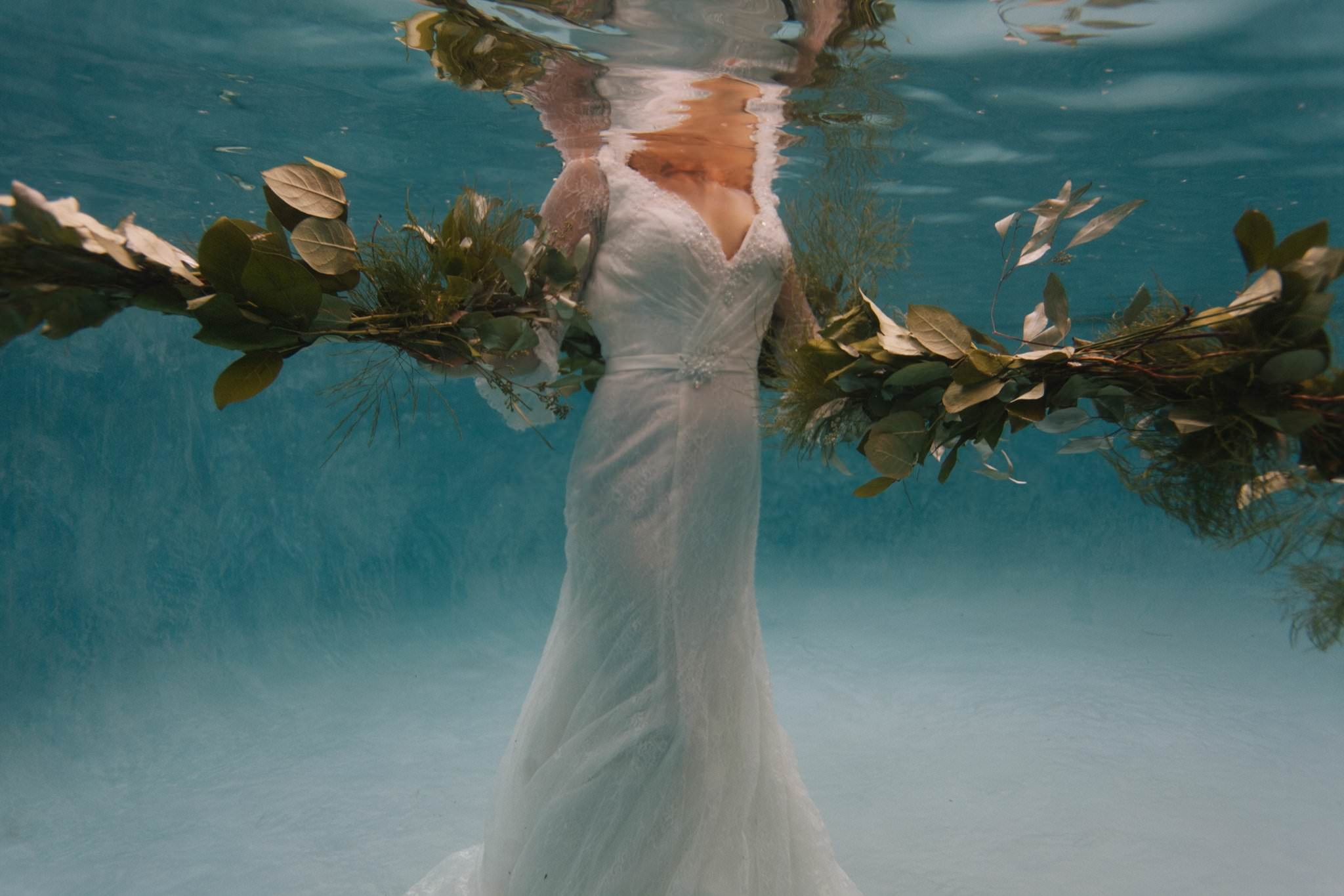 Arizona underwater trash the wedding dress