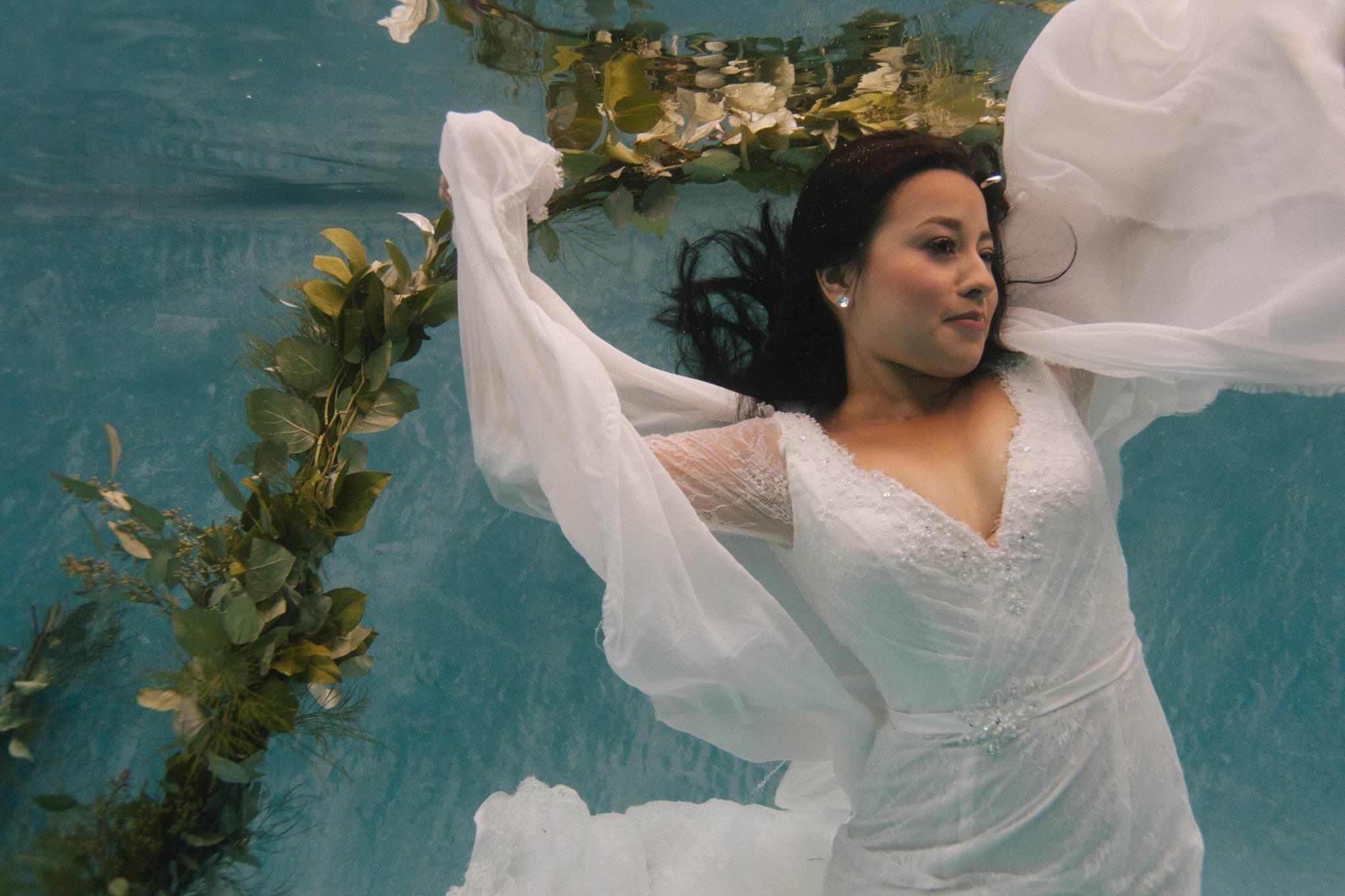Arizona underwater wedding photographer